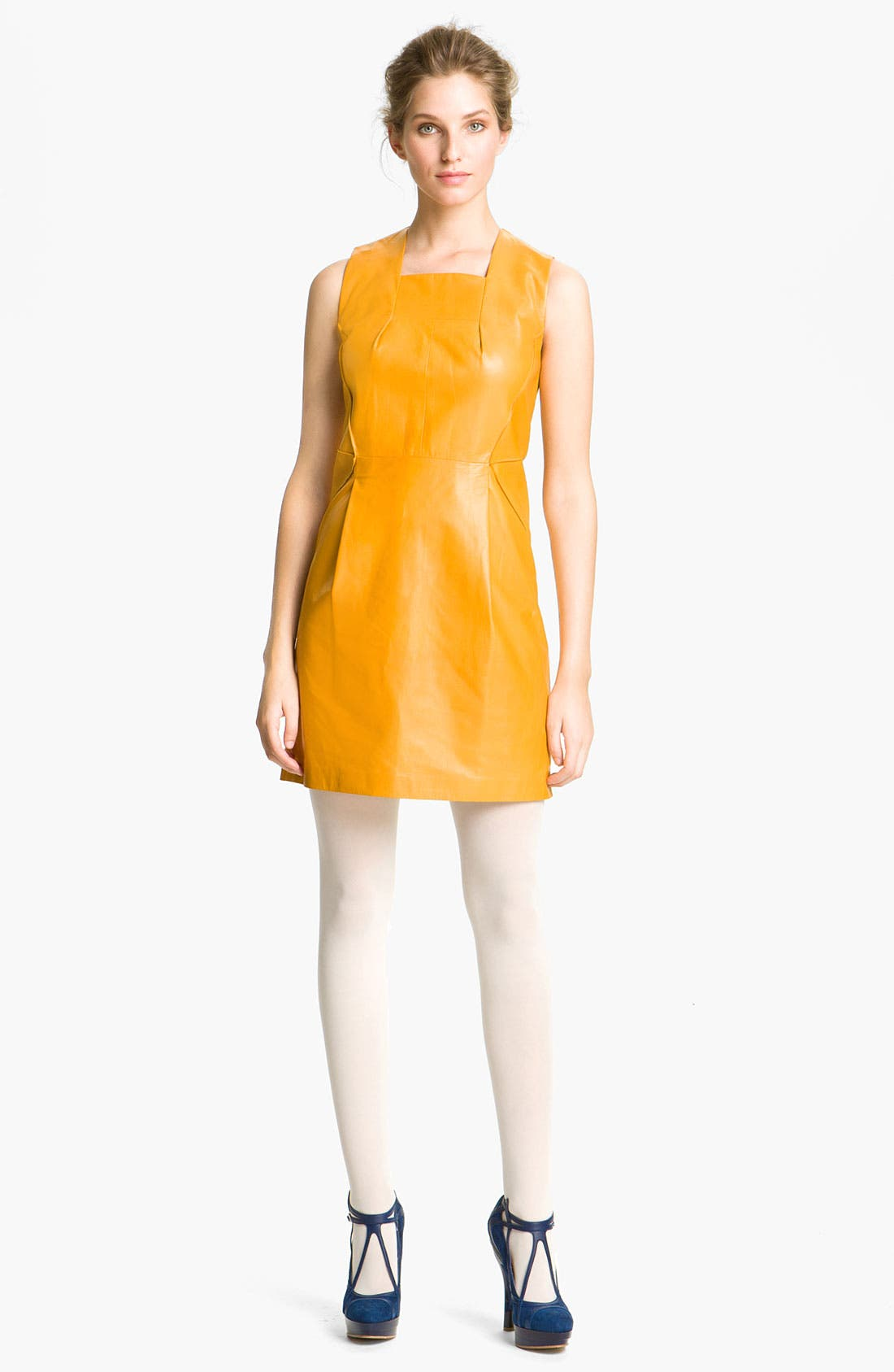Alternate Image 1 Selected - Cacharel Leather Shift Dress