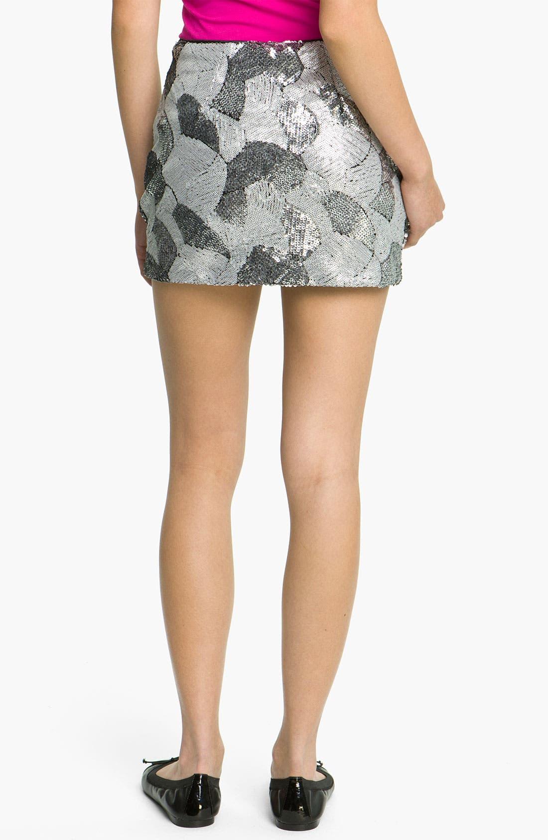 Alternate Image 2  - Freehug Sequin Miniskirt (Juniors)