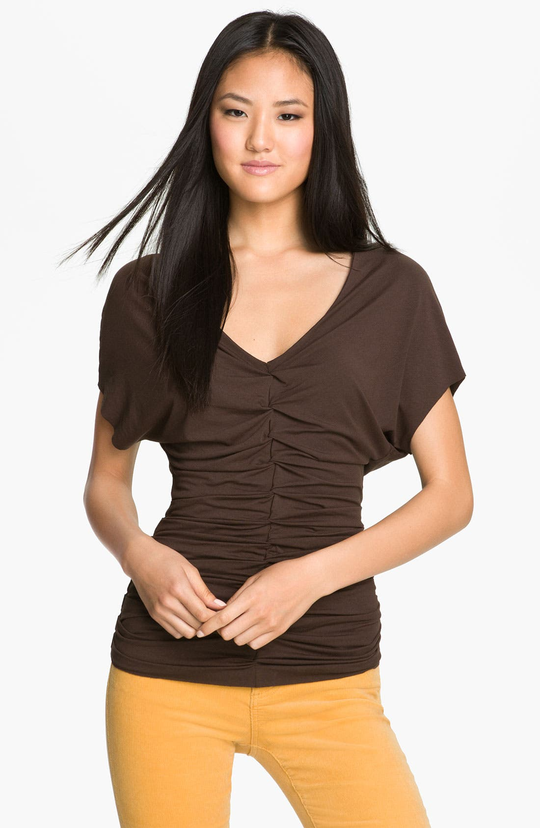Alternate Image 2  - Vince Camuto Ruched Front Top