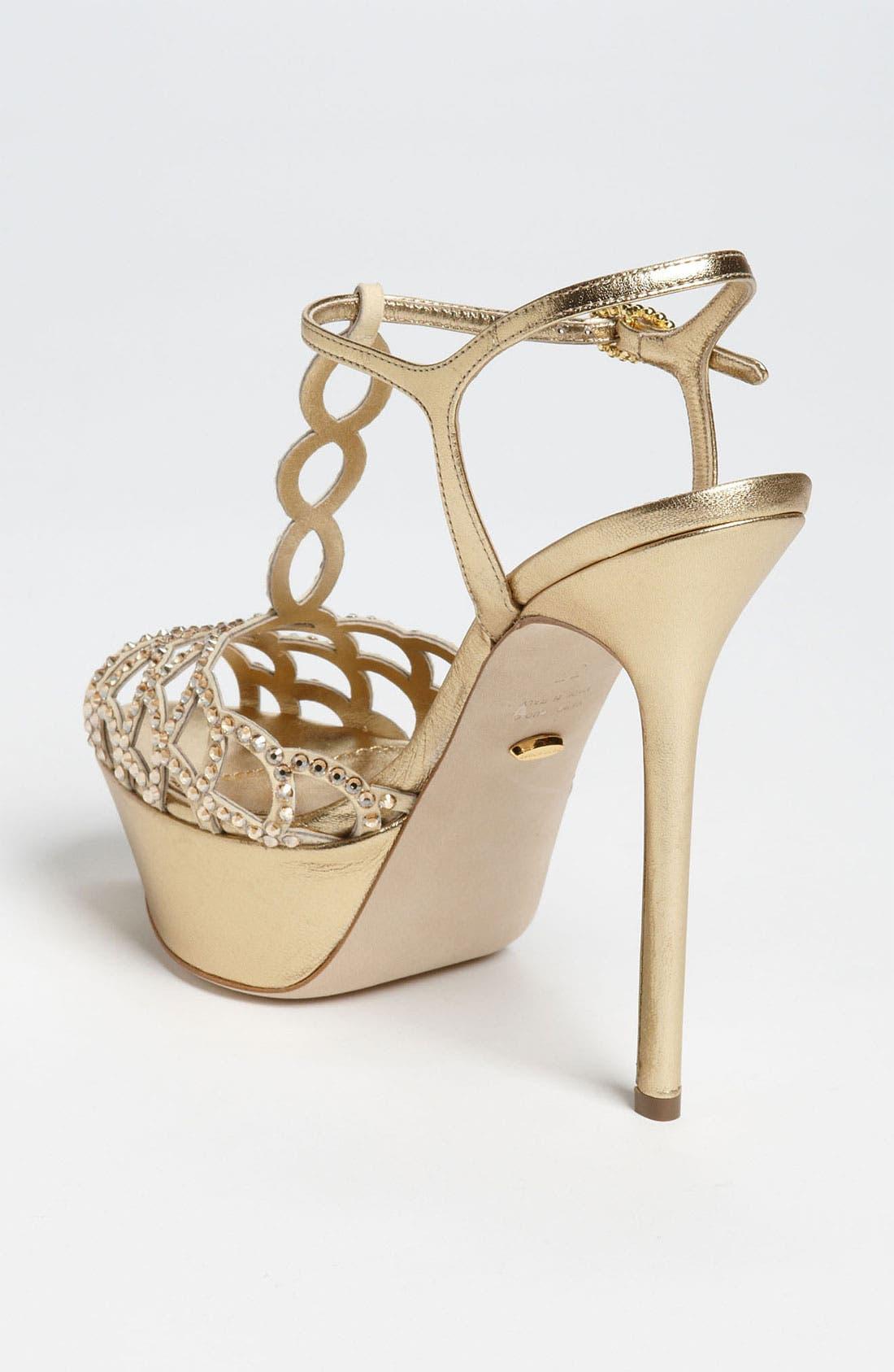 Alternate Image 2  - Sergio Rossi Crystal Platform Sandal