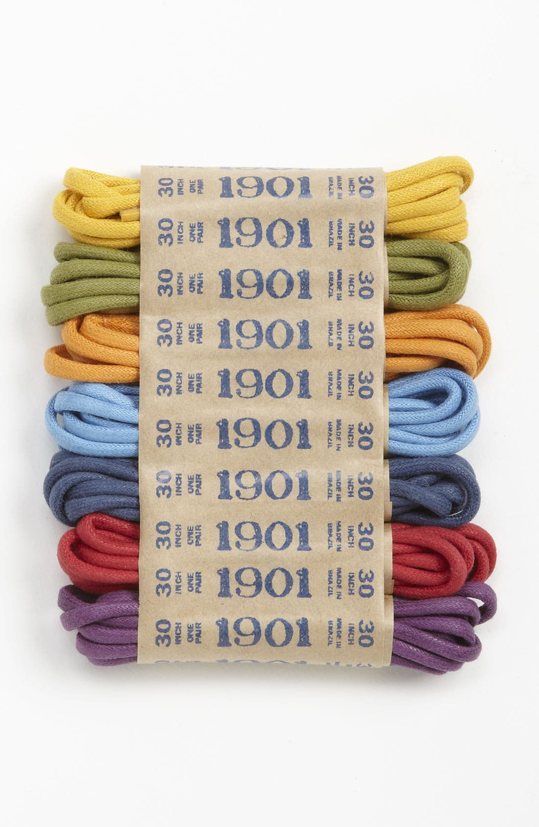 Alternate Image 1 Selected - 1901 30 Inch Multicolor Shoelaces (7-Pack)