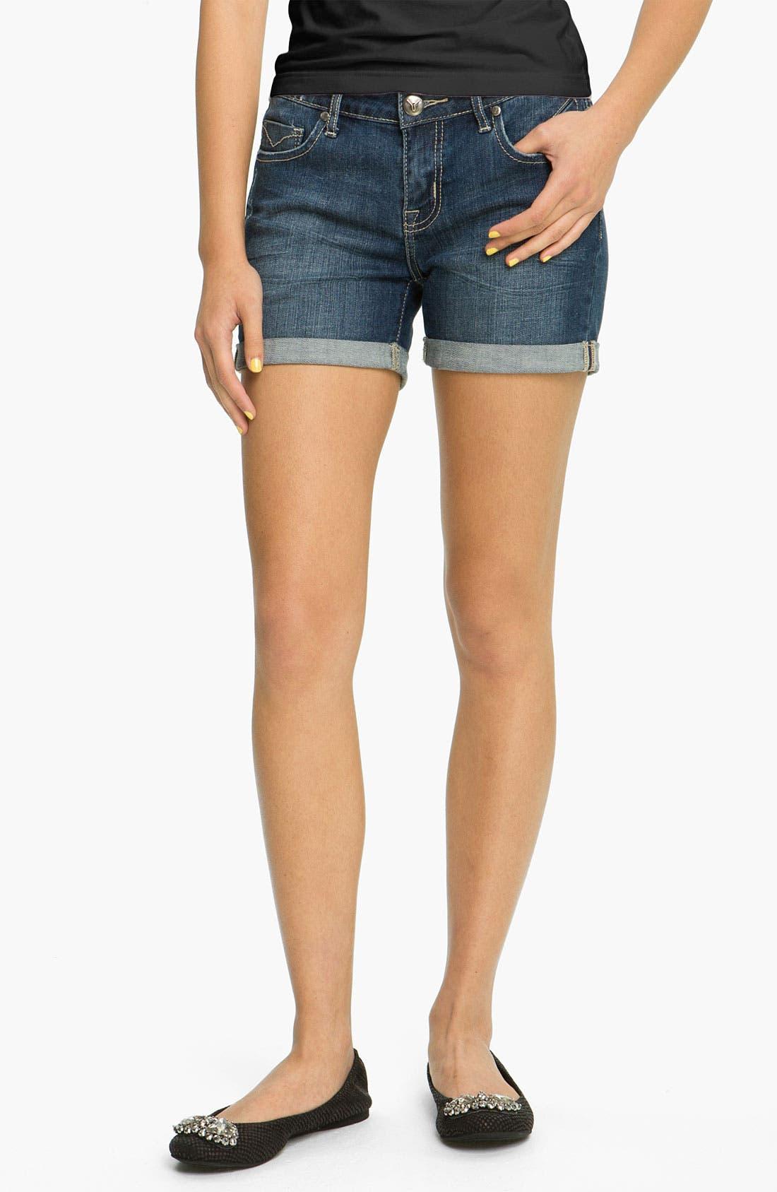 Alternate Image 2  - Vigoss Cuff Denim Shorts (Juniors)