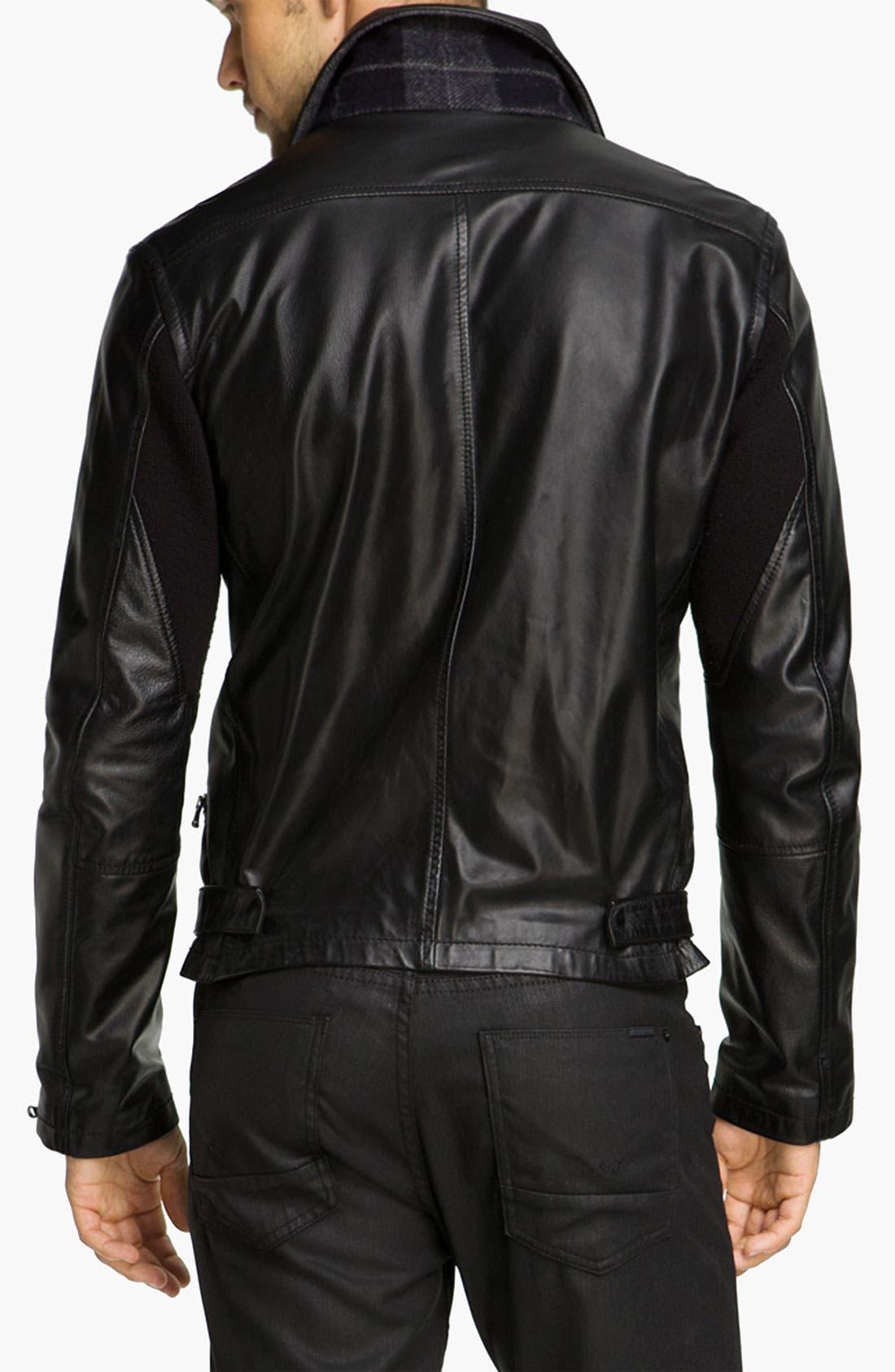 Alternate Image 2  - Edun Leather Moto Jacket