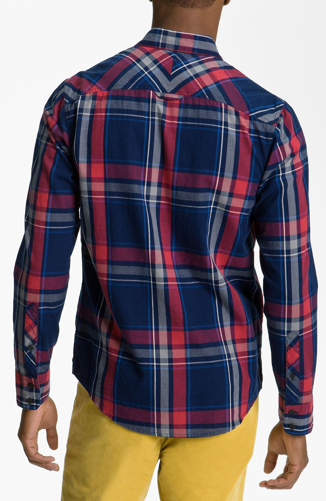 Alternate Image 2  - 1901 Yarn Dyed Plaid Woven Shirt