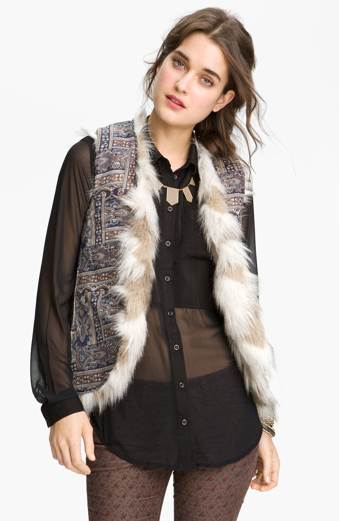 Alternate Image 3  - Free People Faux Fur Vest