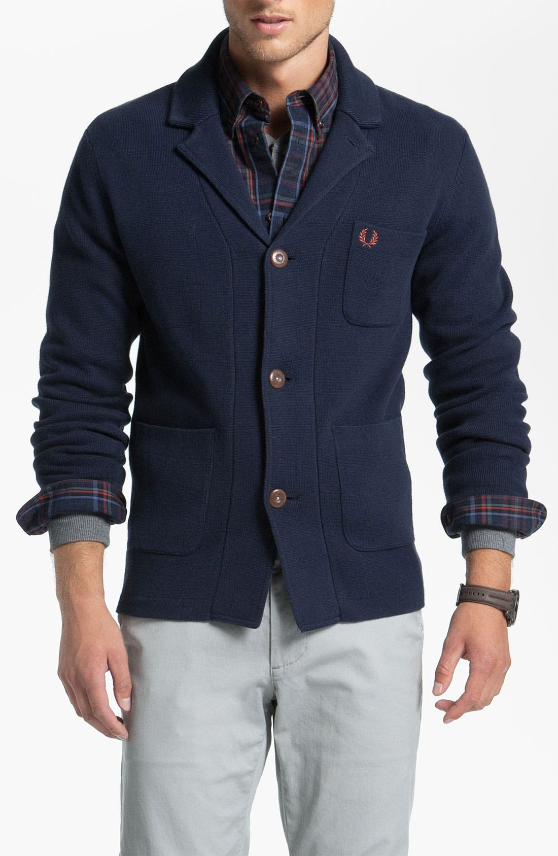 Alternate Image 1 Selected - Fred Perry Jacket Cardigan