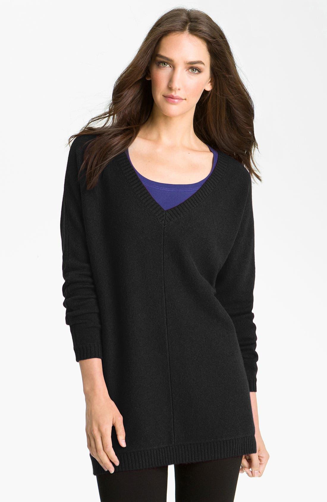 Alternate Image 1 Selected - Caslon® V-Neck Tunic Sweater