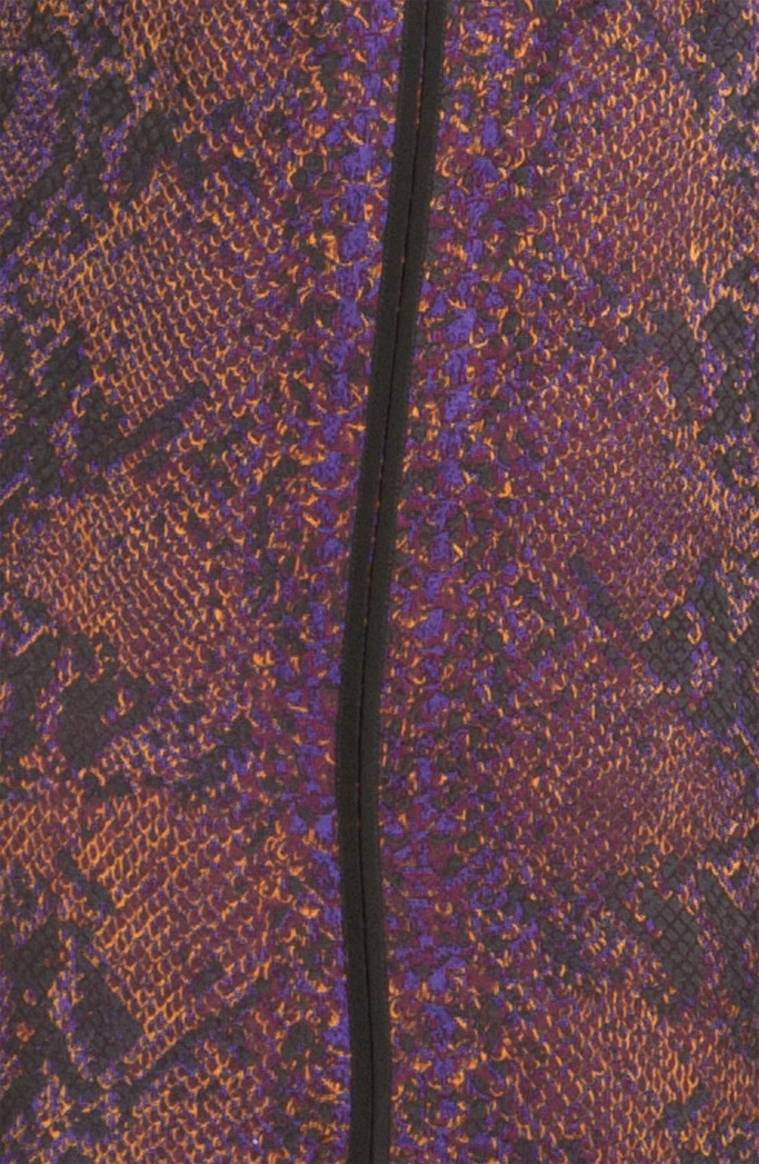 Alternate Image 3  - Rebecca Taylor 'Python' Print Silk Halter Dress