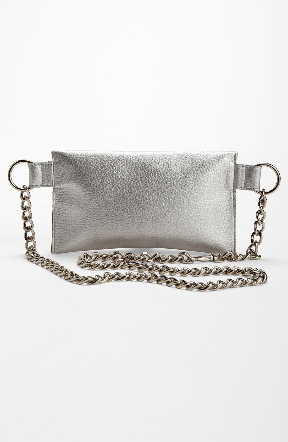Alternate Image 4  - MICHAEL Michael Kors Chain Belt with Flap Bag