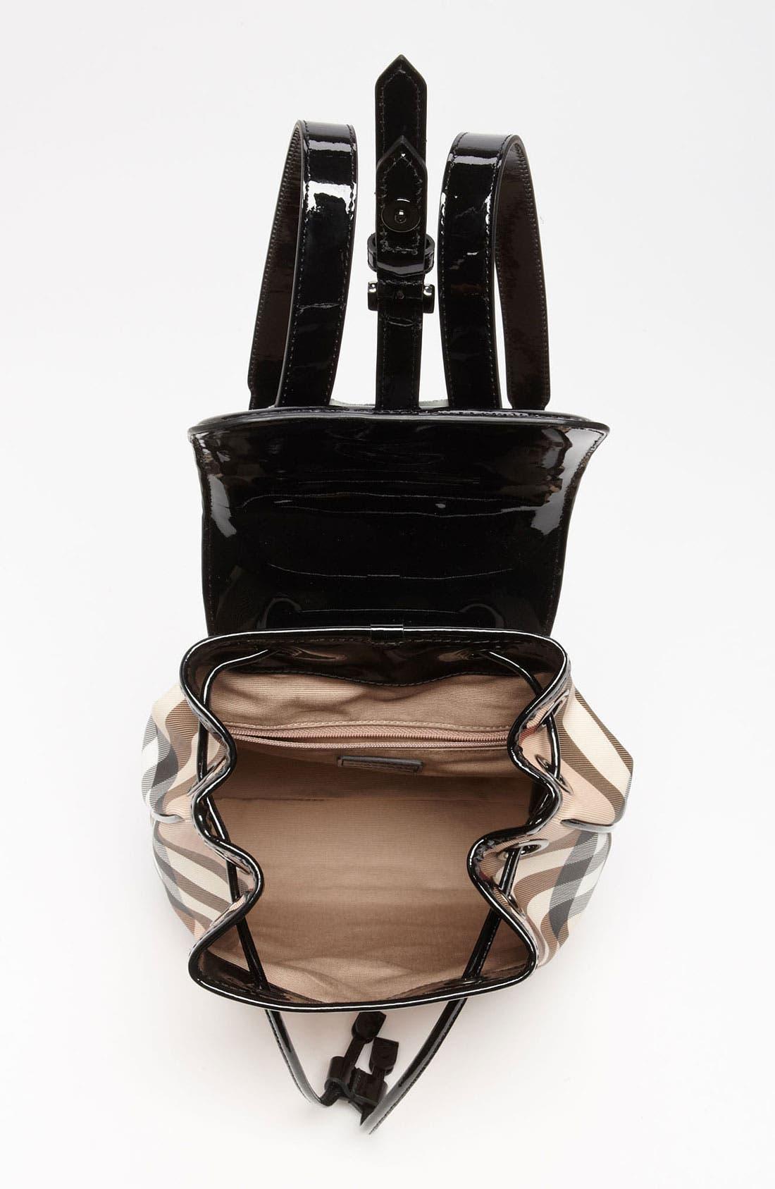 Alternate Image 3  - Burberry 'House Check' Backpack (Girls)