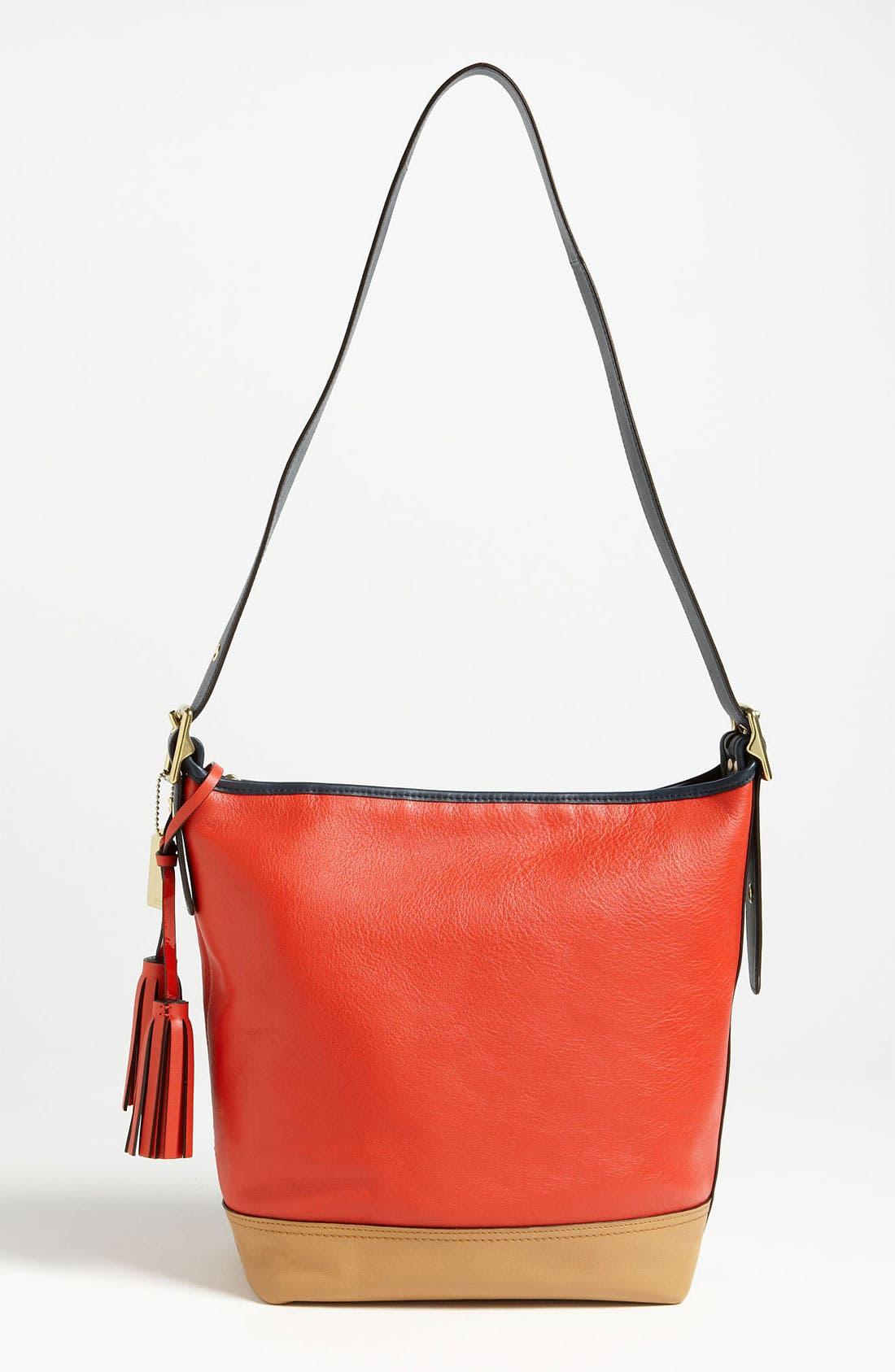 Alternate Image 4  - COACH Colorblock Leather Duffel