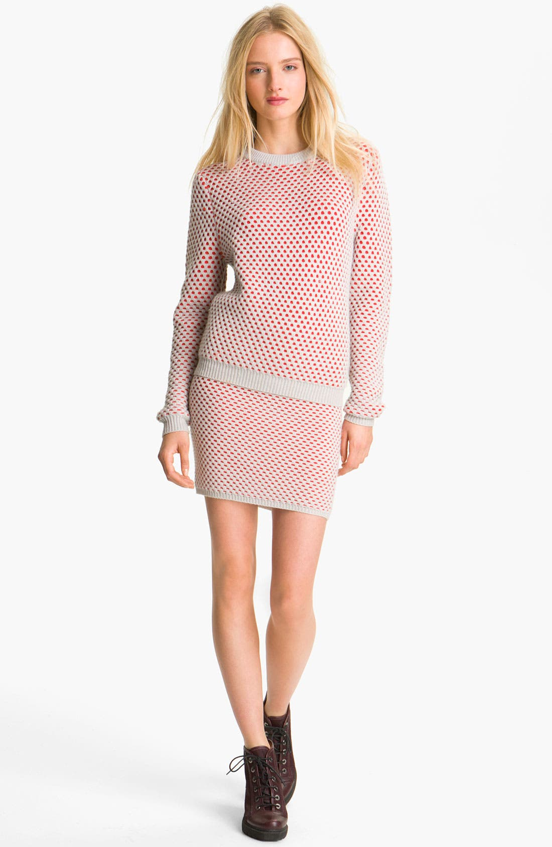 Alternate Image 1 Selected - Opening Ceremony Bicolor Honeycomb Knit Sweater