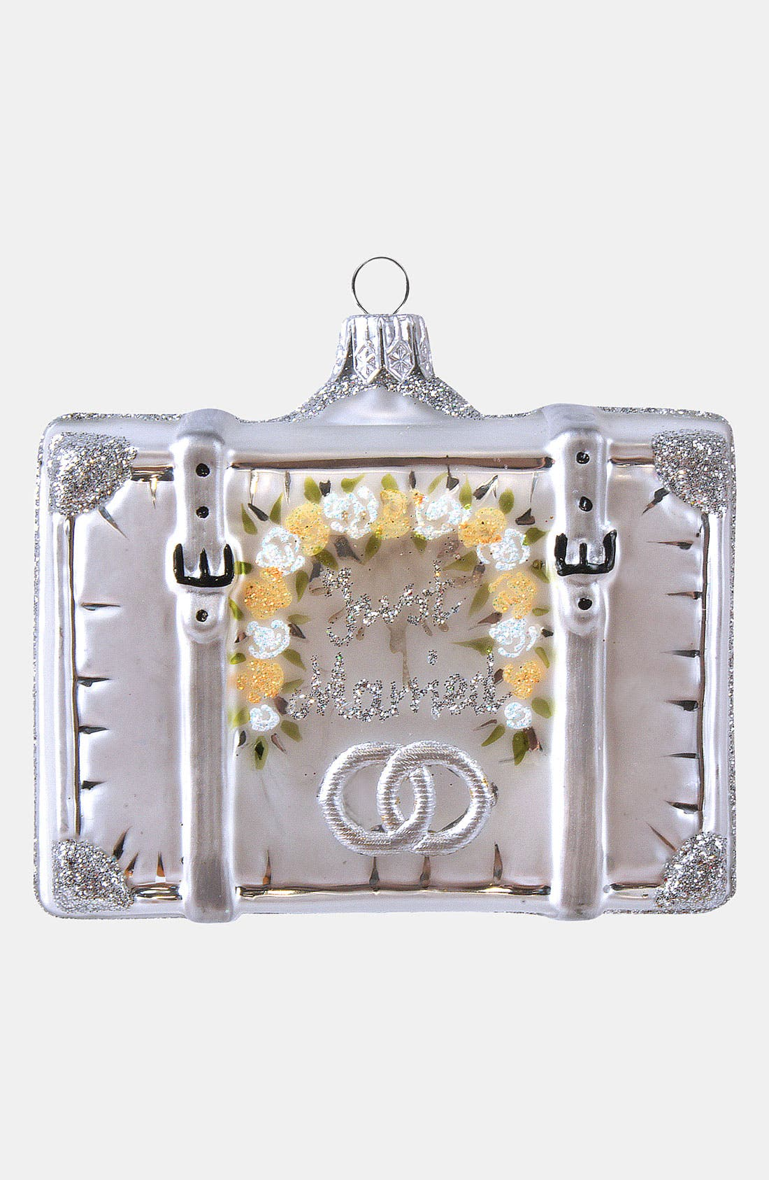 Alternate Image 1 Selected - Nordstrom at Home 'Married 2012' Glass Suitcase Ornament