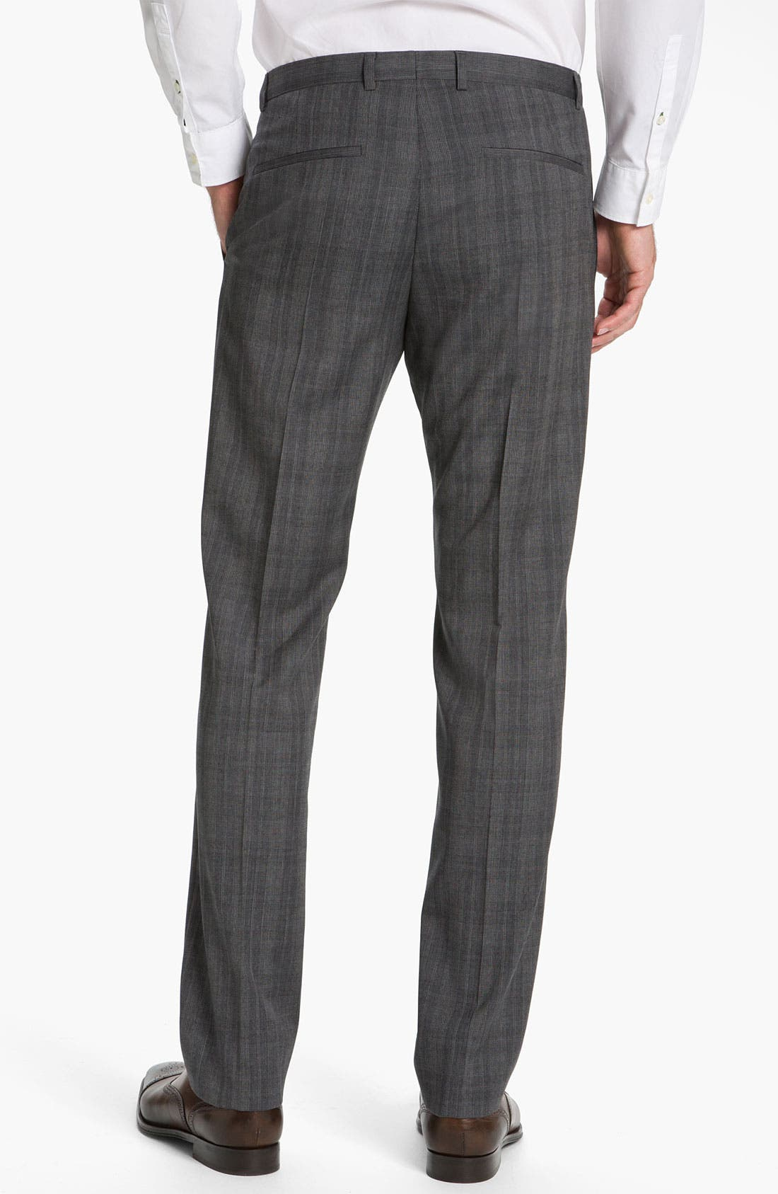Alternate Image 2  - HUGO 'Heise' Flat Front Wool Trousers