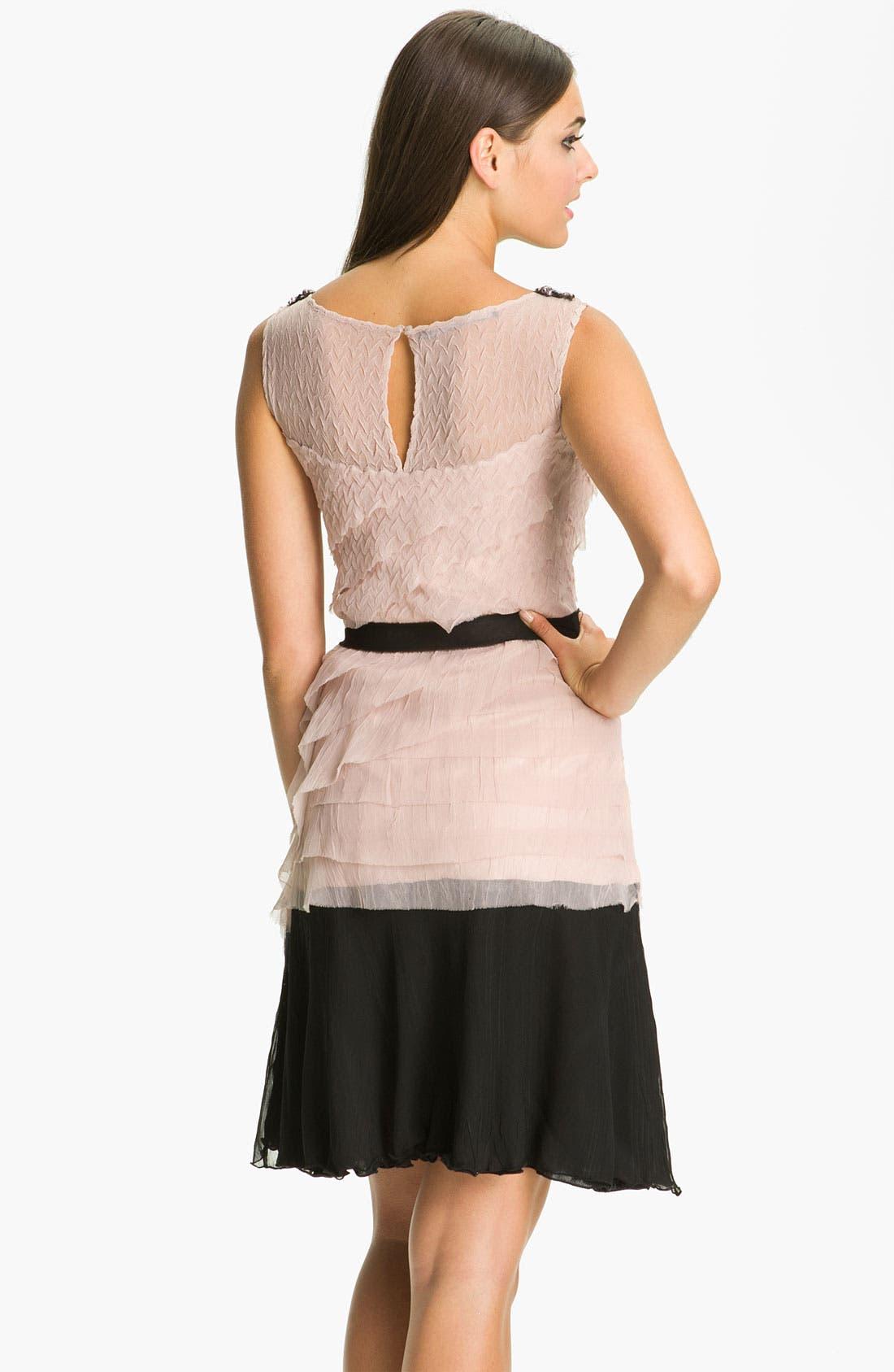 Alternate Image 2  - Black by Komarov Embellished Collar Layered Chiffon Dress