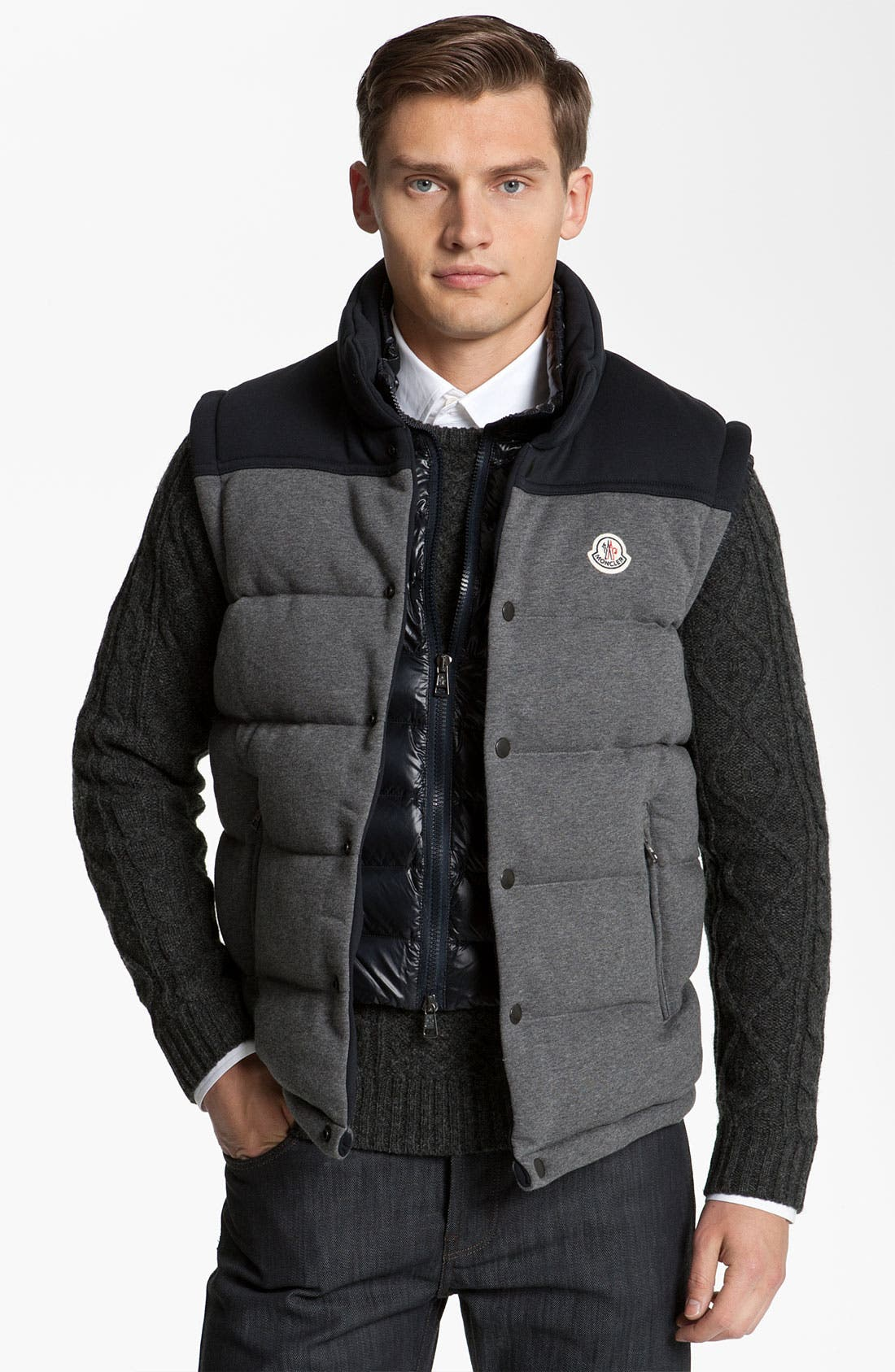 Main Image - Moncler 'Adam' Quilted Down Vest