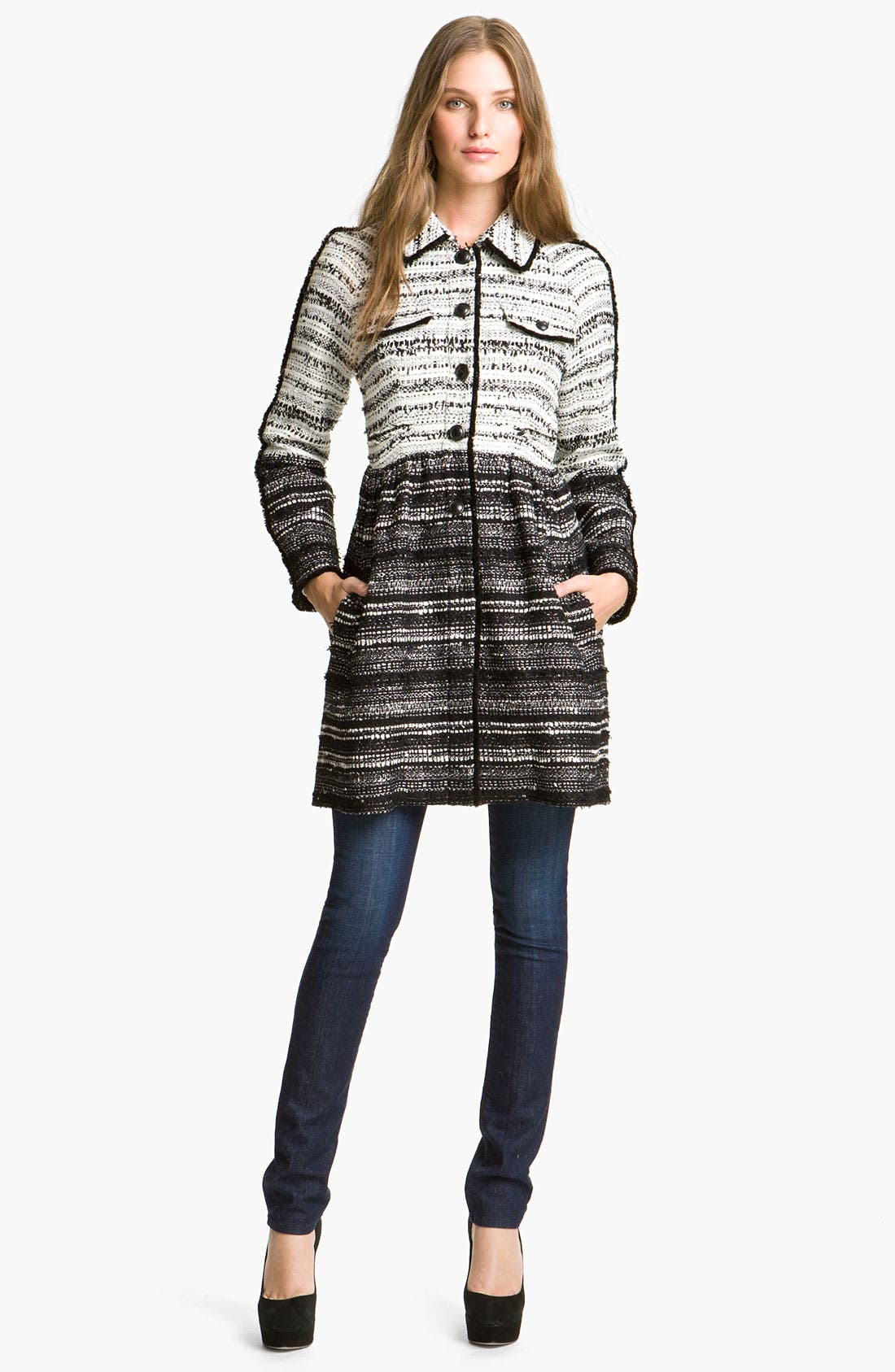 Main Image - Mcginn 'Hilary' Colorblock Tweed Coat