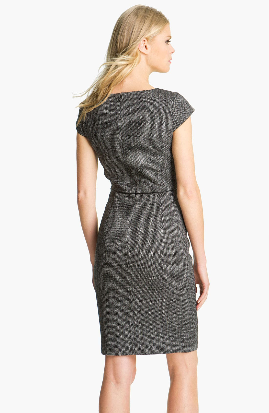 Alternate Image 2  - Black Halo Piping Detail Tweed Sheath Dress
