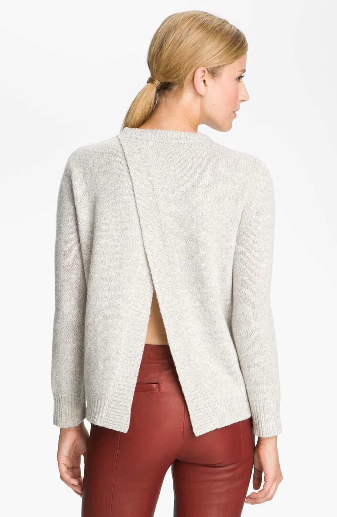 Alternate Image 2  - A.L.C. Split Back Knit Sweater