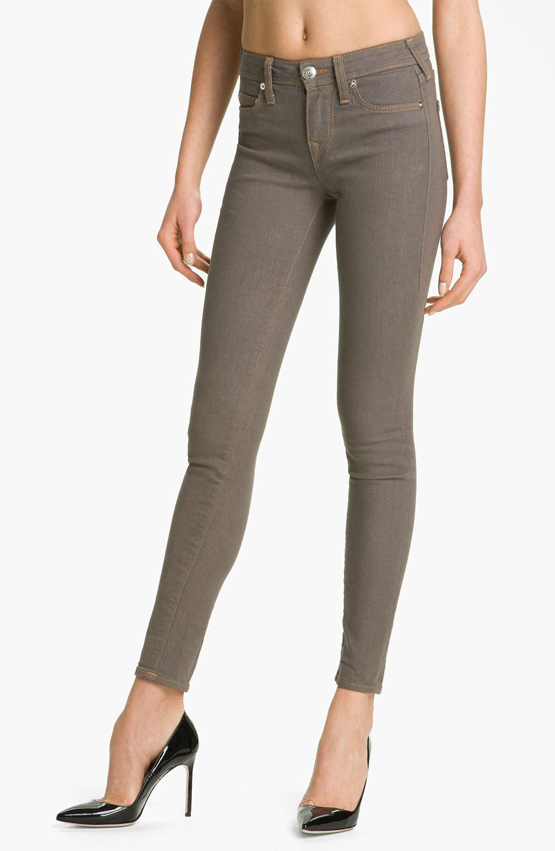 Main Image - True Religion Brand Jeans 'Halle' Skinny Stretch Jeans (Dark Storm)