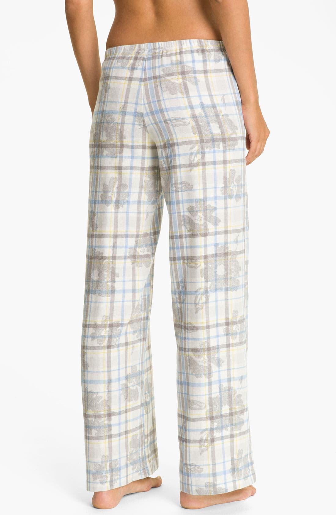 Alternate Image 2  - Hue 'Cassie Floral' Pajama Pants