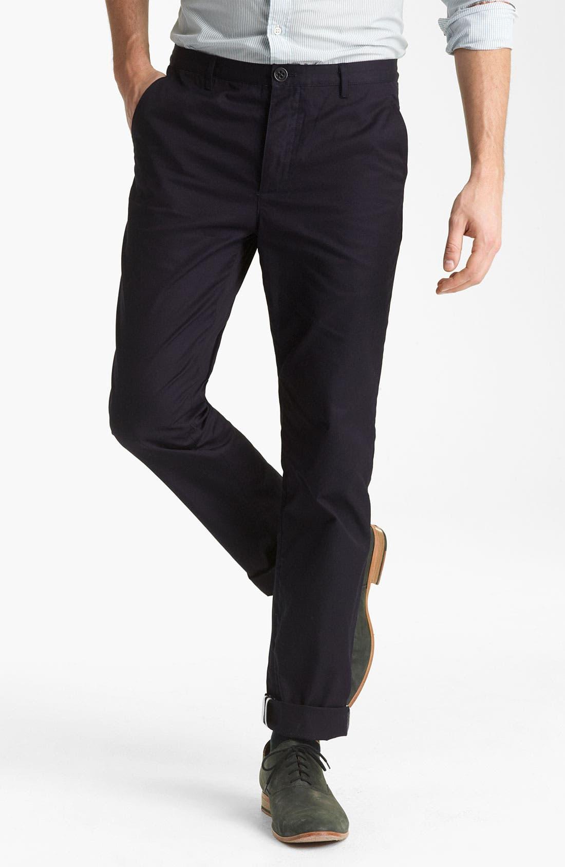 Alternate Image 1 Selected - Shipley & Halmos 'Belmont' Slim Fit Cotton Pants
