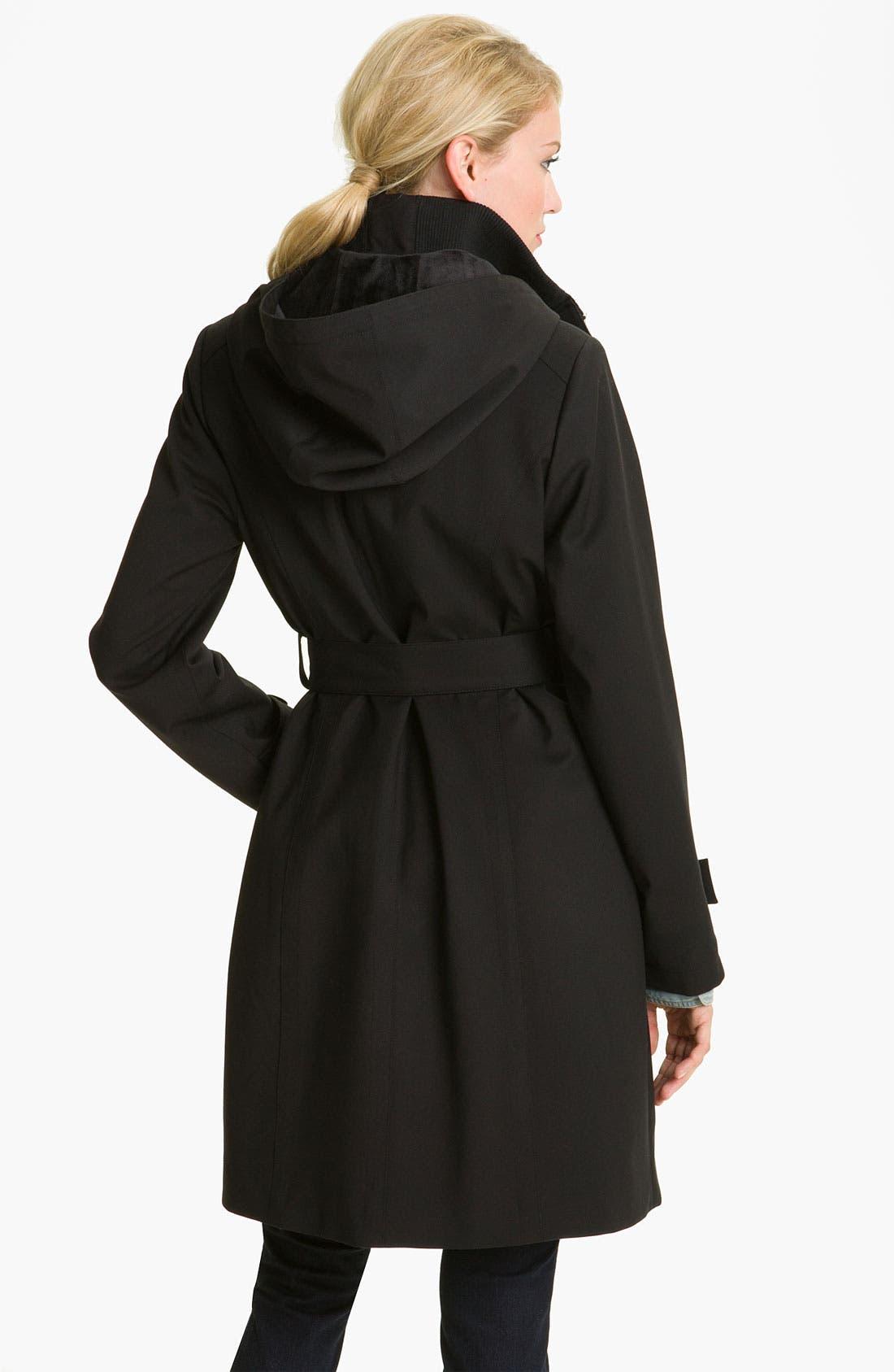 Alternate Image 2  - Kristen Blake Raincoat with Detachable Hood