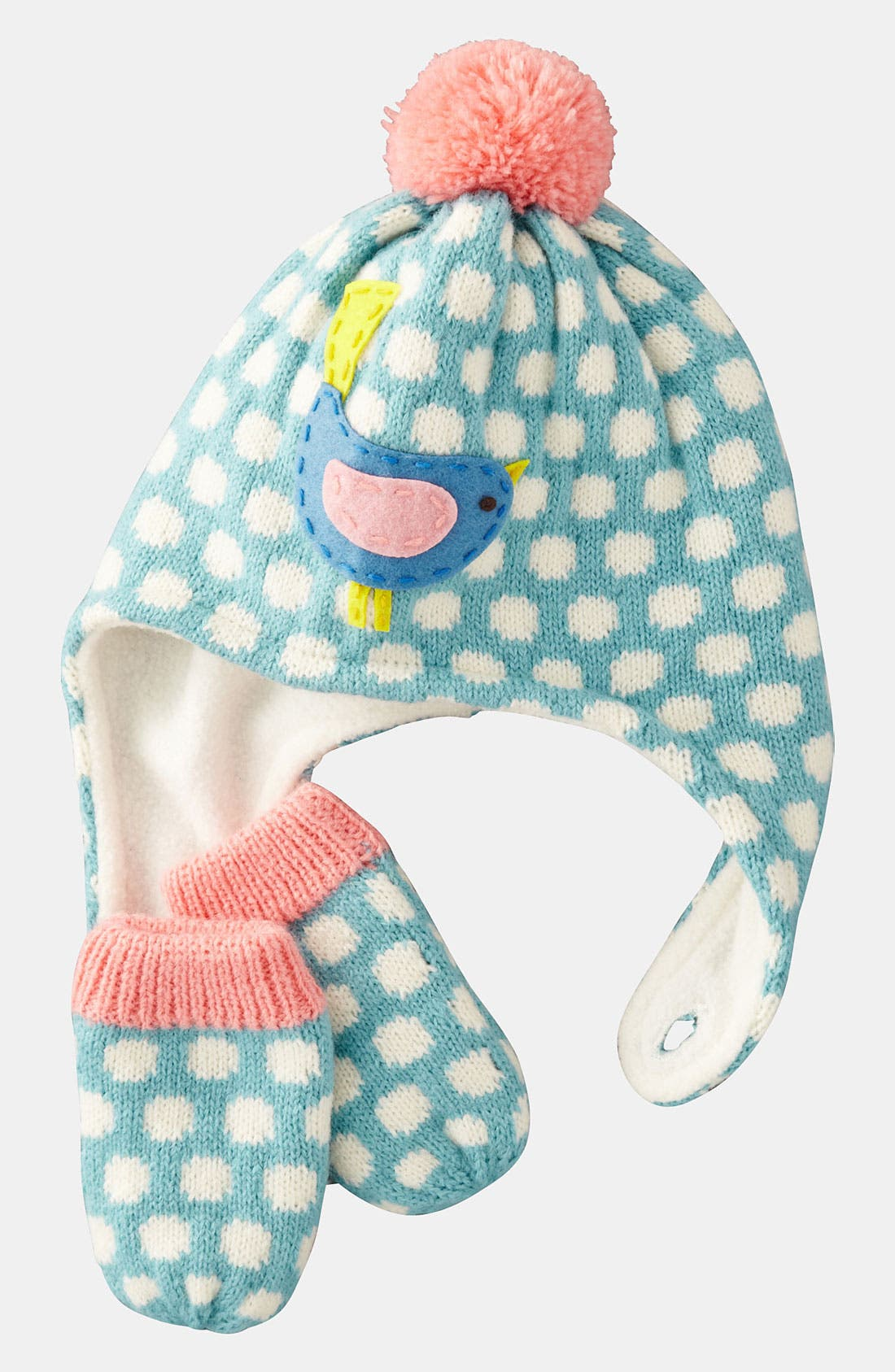 Main Image - Mini Boden Hat & Mittens (Infant & Toddler)