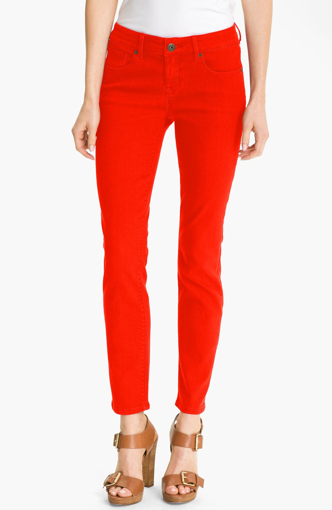 Main Image - Isaac Mizrahi Jeans 'Samantha' Colored Denim Skinny Jeans