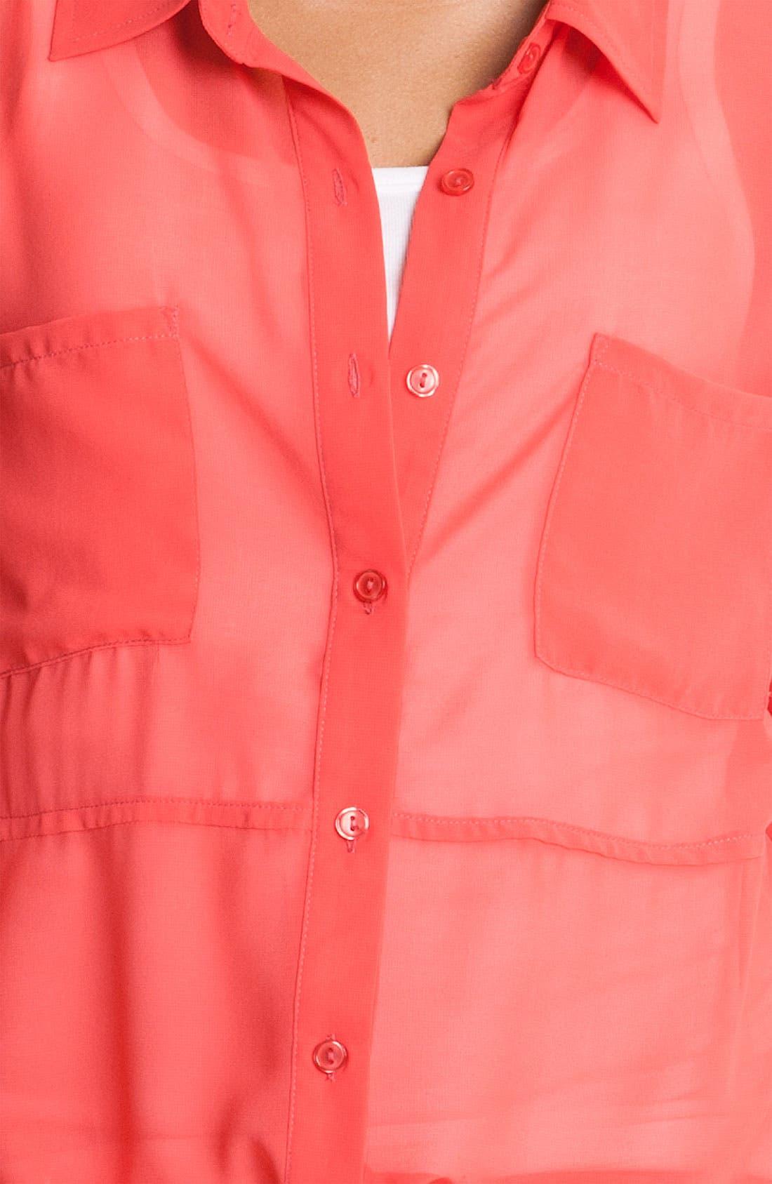 Alternate Image 3  - MOD.lusive Sheer Split Back Shirt (Nordstrom Exclusive)