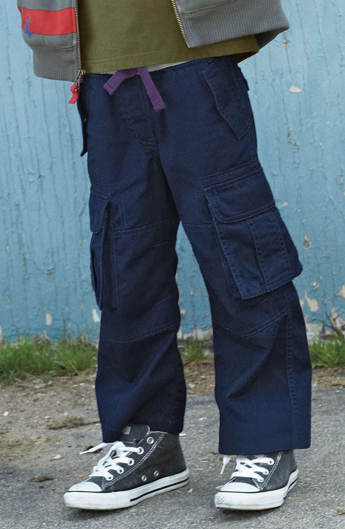 Alternate Image 2  - Mini Boden Ribbed Waist Cargo Pants (Little Boys & Big Boys)