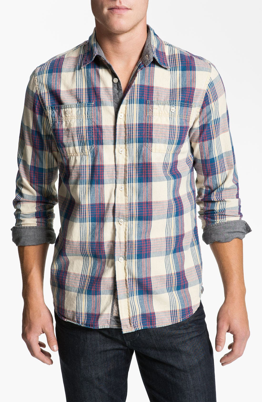 Alternate Image 1 Selected - Just A Cheap Shirt Plaid Woven Shirt