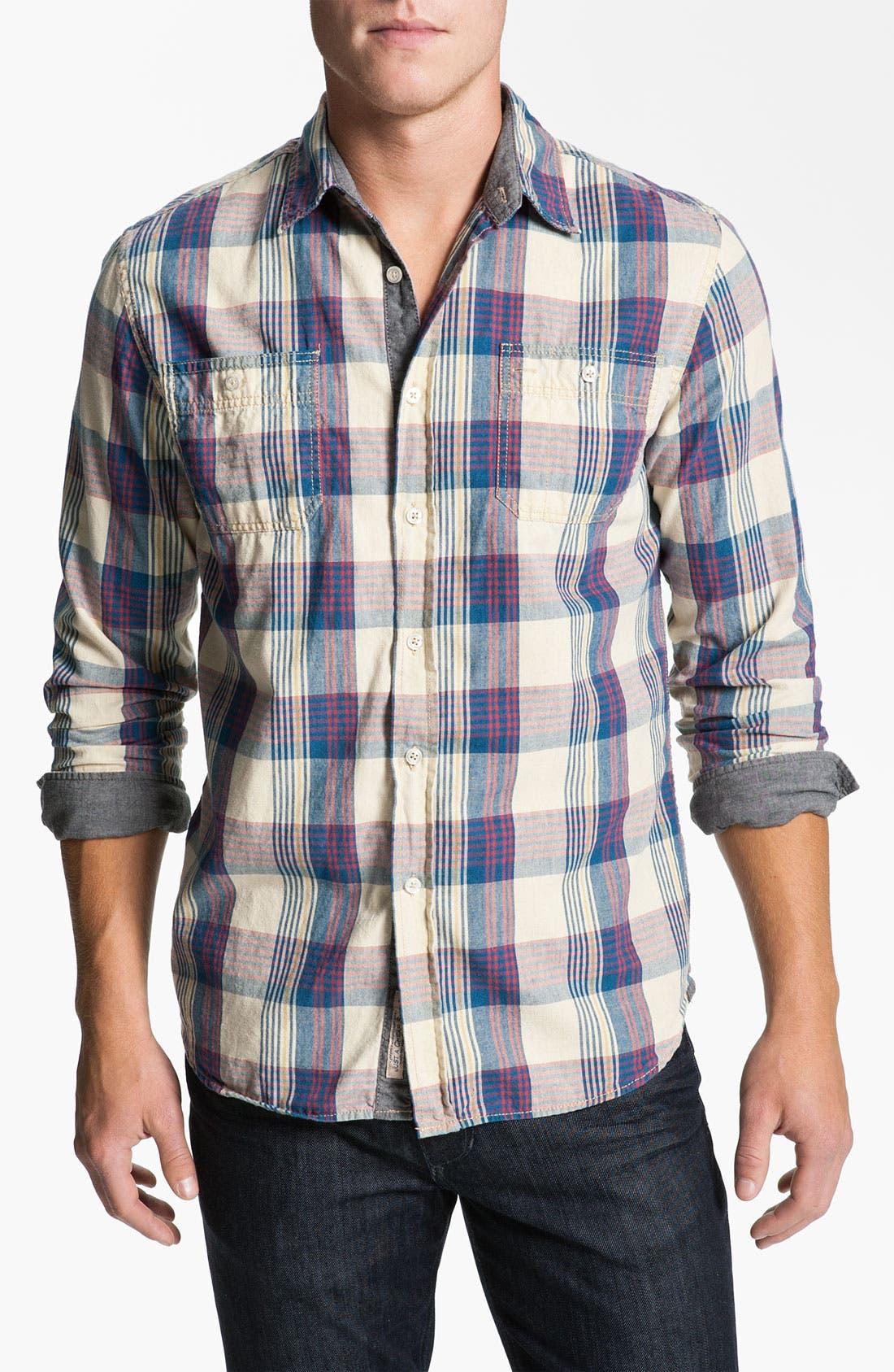 Main Image - Just A Cheap Shirt Plaid Woven Shirt