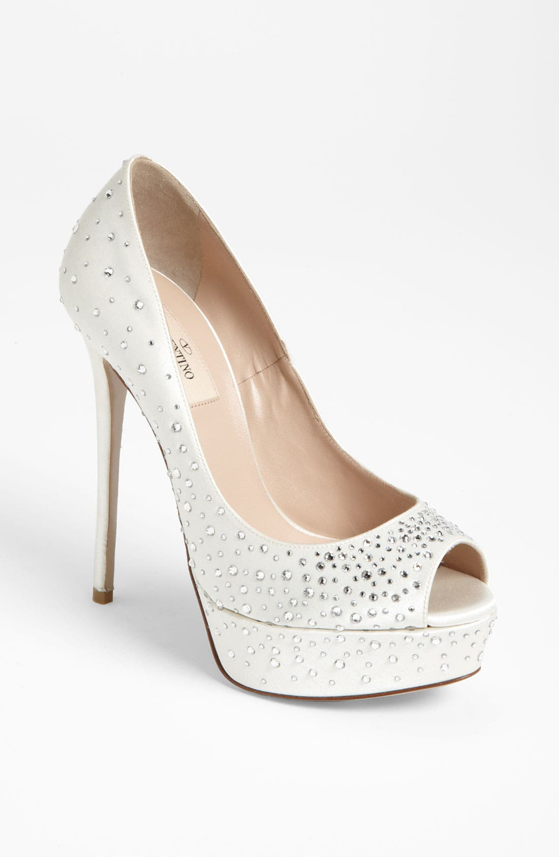 Alternate Image 1 Selected - Valentino 'Bridal' Open Toe Pump
