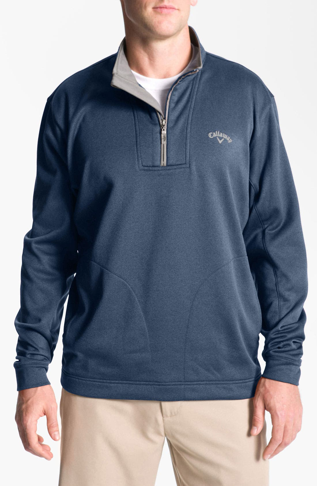 Alternate Image 1 Selected - Callaway Golf® 'Heathertech' Fleece Pullover