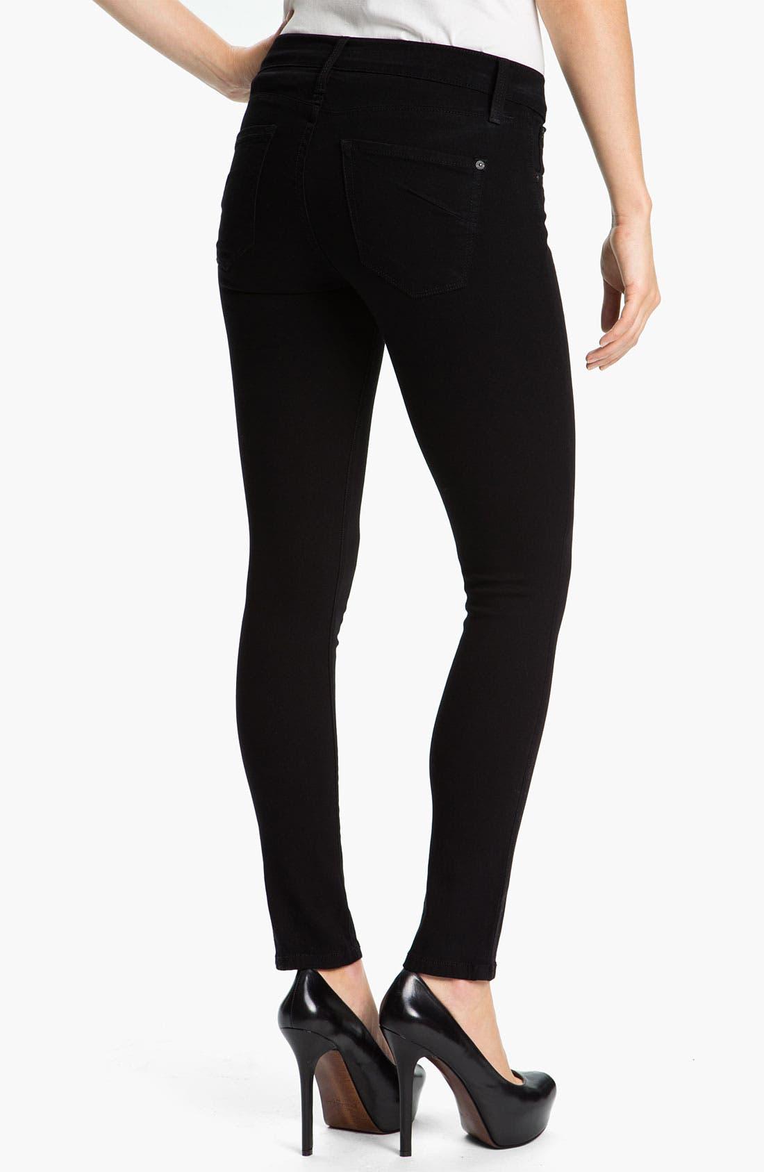 Alternate Image 2  - James Jeans 'Ritchie' Slim Jeans (Black Clean) (Petite) (Online Exclusive)