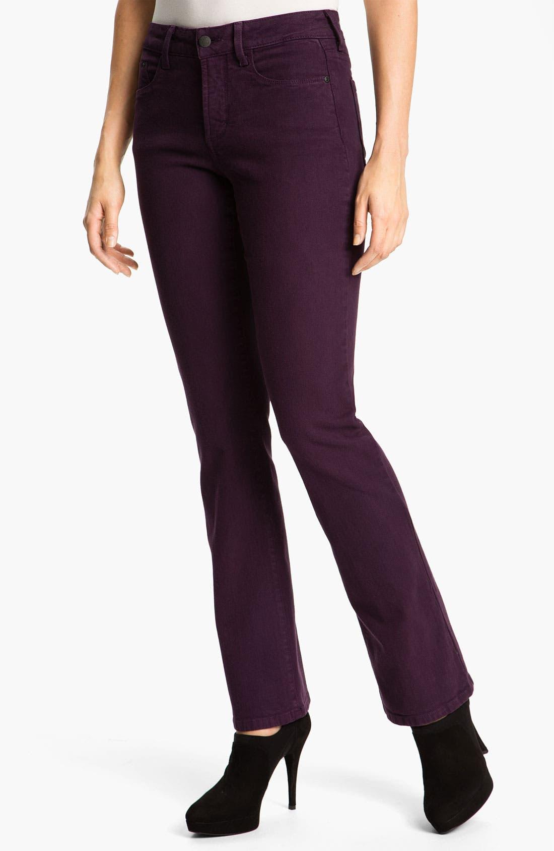 Main Image - NYDJ 'Barbara' Colored Denim Bootcut Jeans