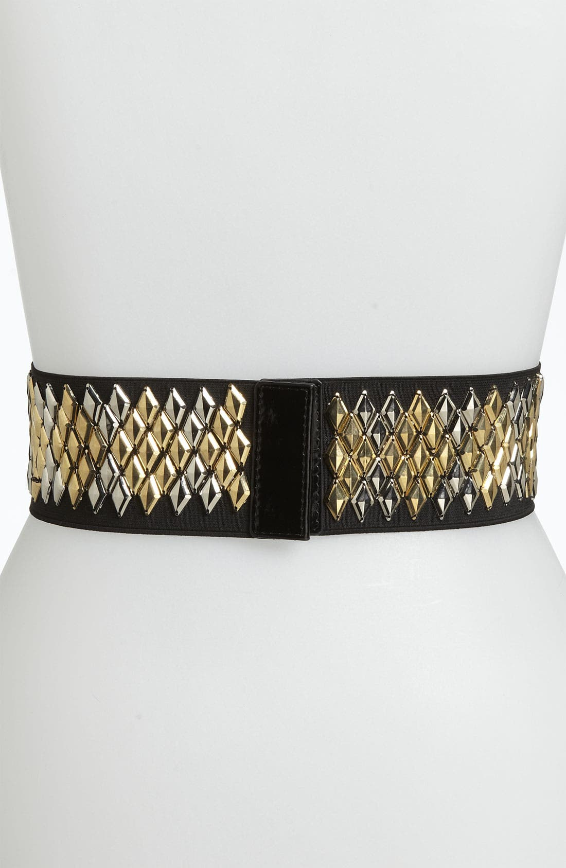 Alternate Image 2  - Betsey Johnson Two Tone Stretch Belt