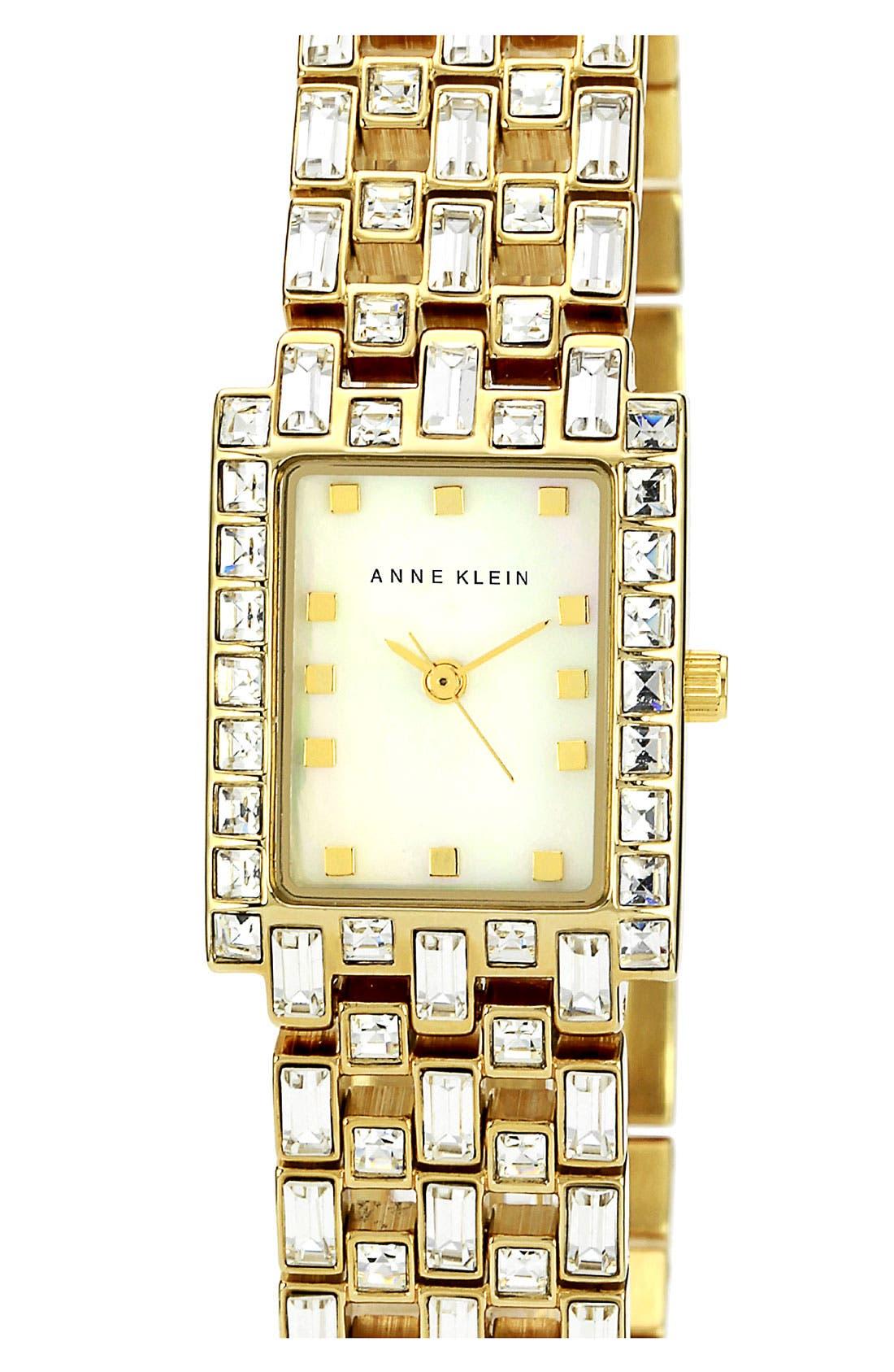 Alternate Image 1 Selected - Anne Klein Rectangular Bracelet Watch