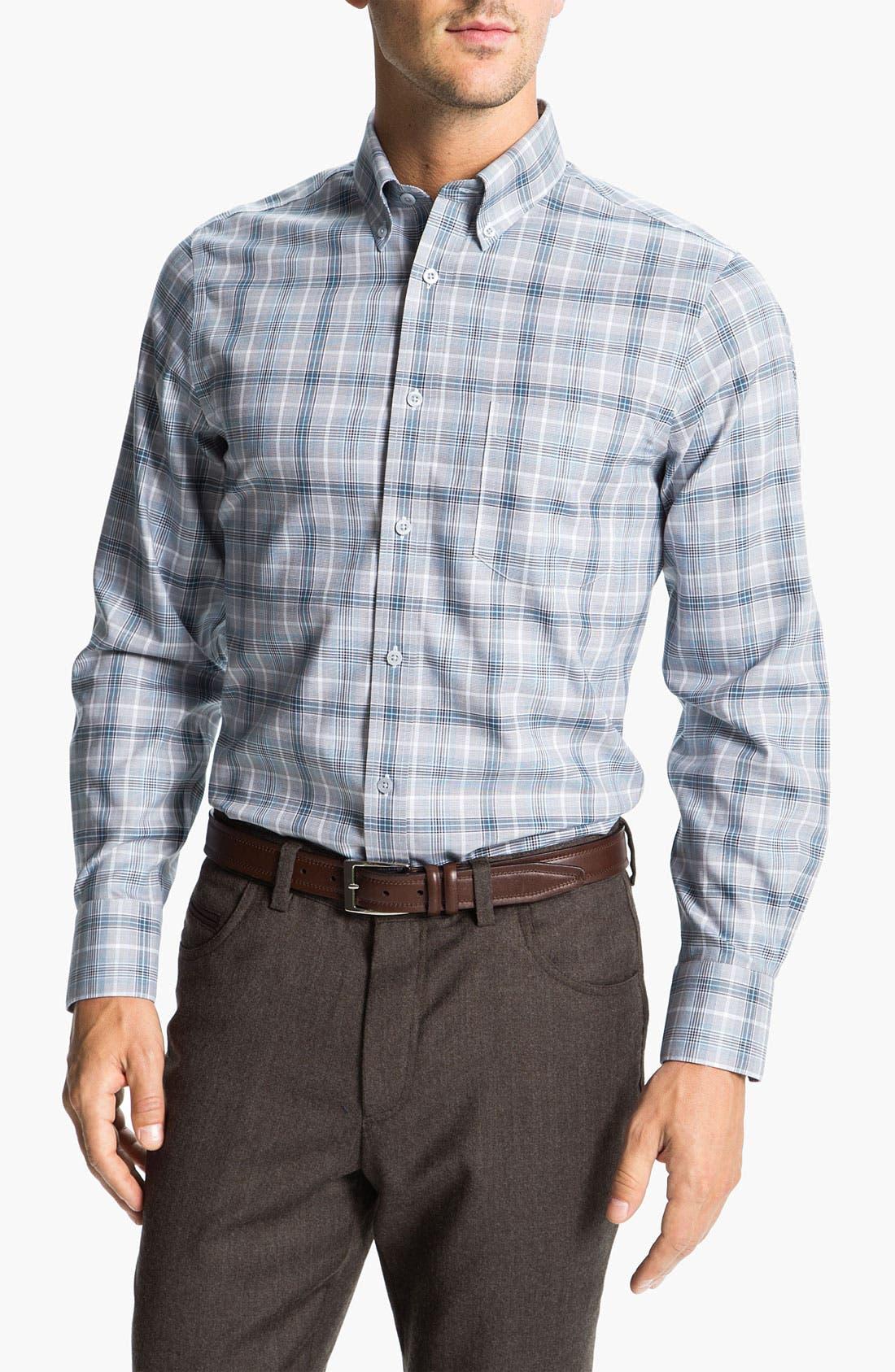 Main Image - Nordstrom Smartcare™ Regular Fit Twill Sport Shirt