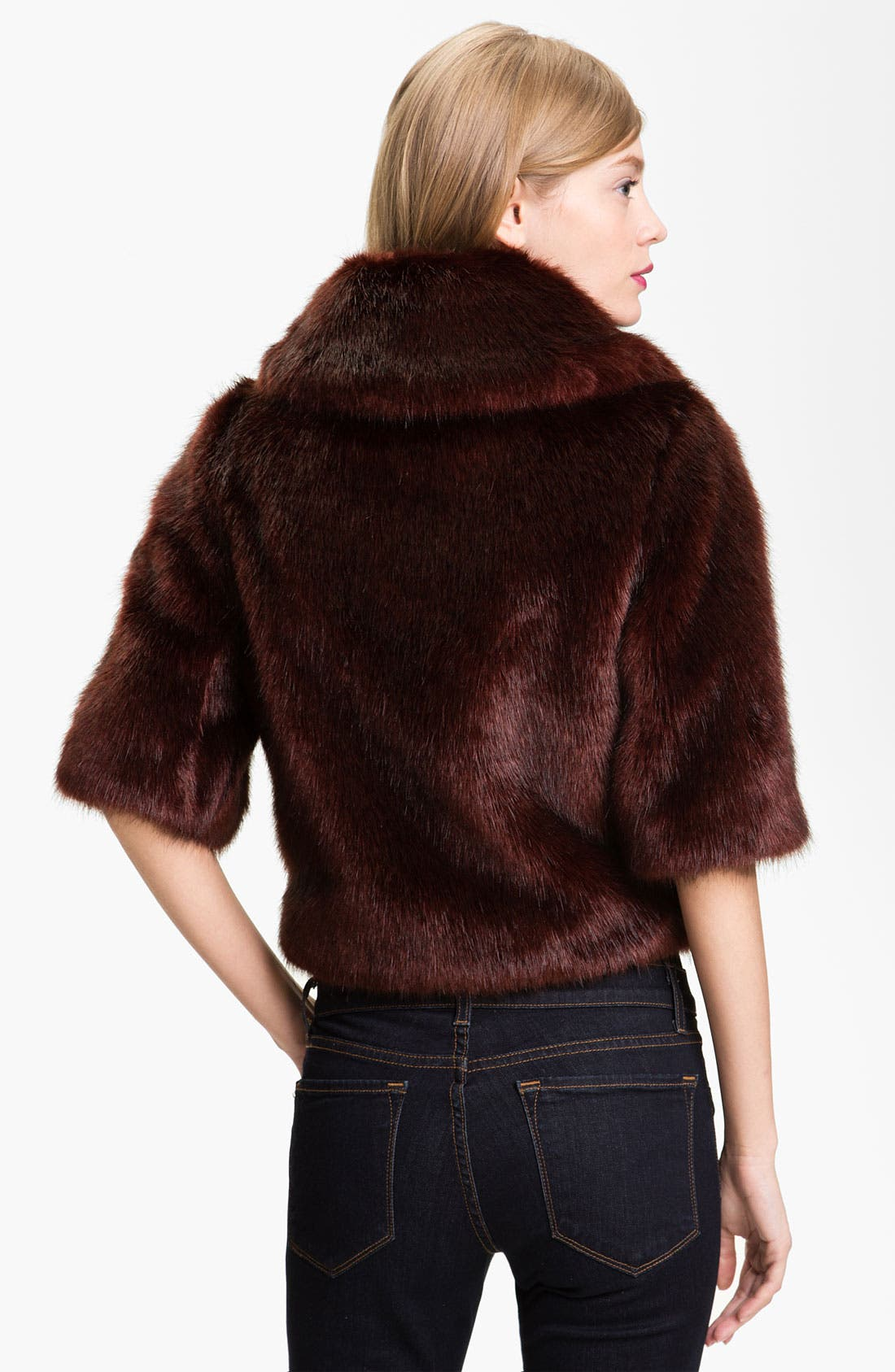 Alternate Image 2  - Ted Baker London Crop Faux Fur Jacket