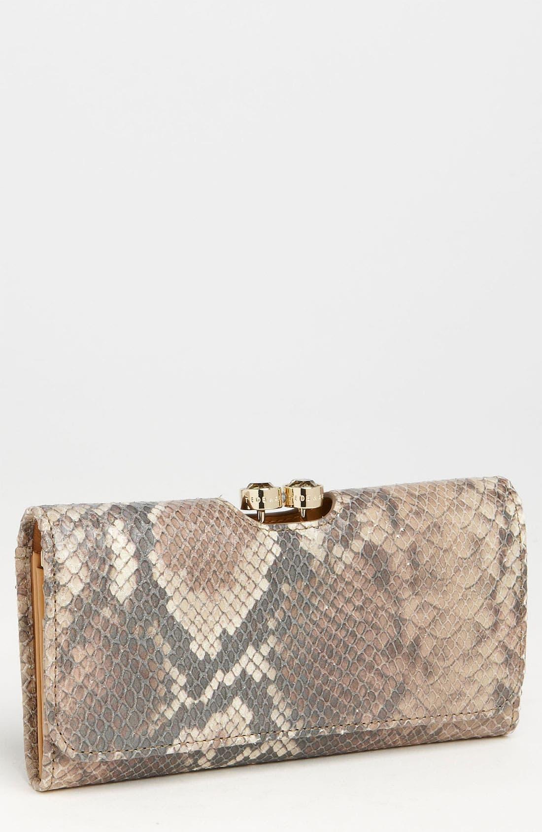Alternate Image 1 Selected - Ted Baker London Snake Embossed Matinee Wallet