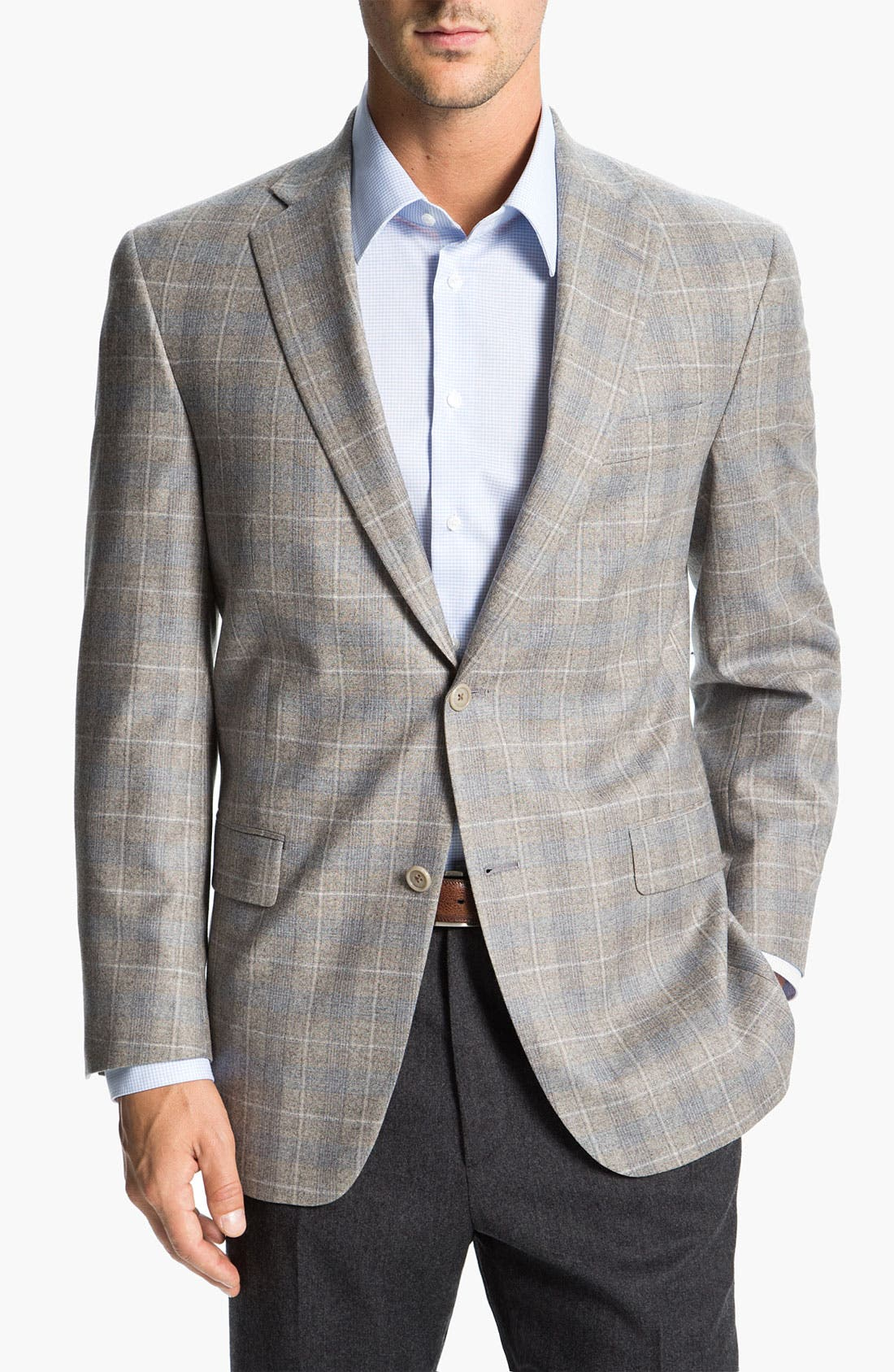 Alternate Image 1 Selected - Hart Schaffner Marx Plaid Wool Sportcoat
