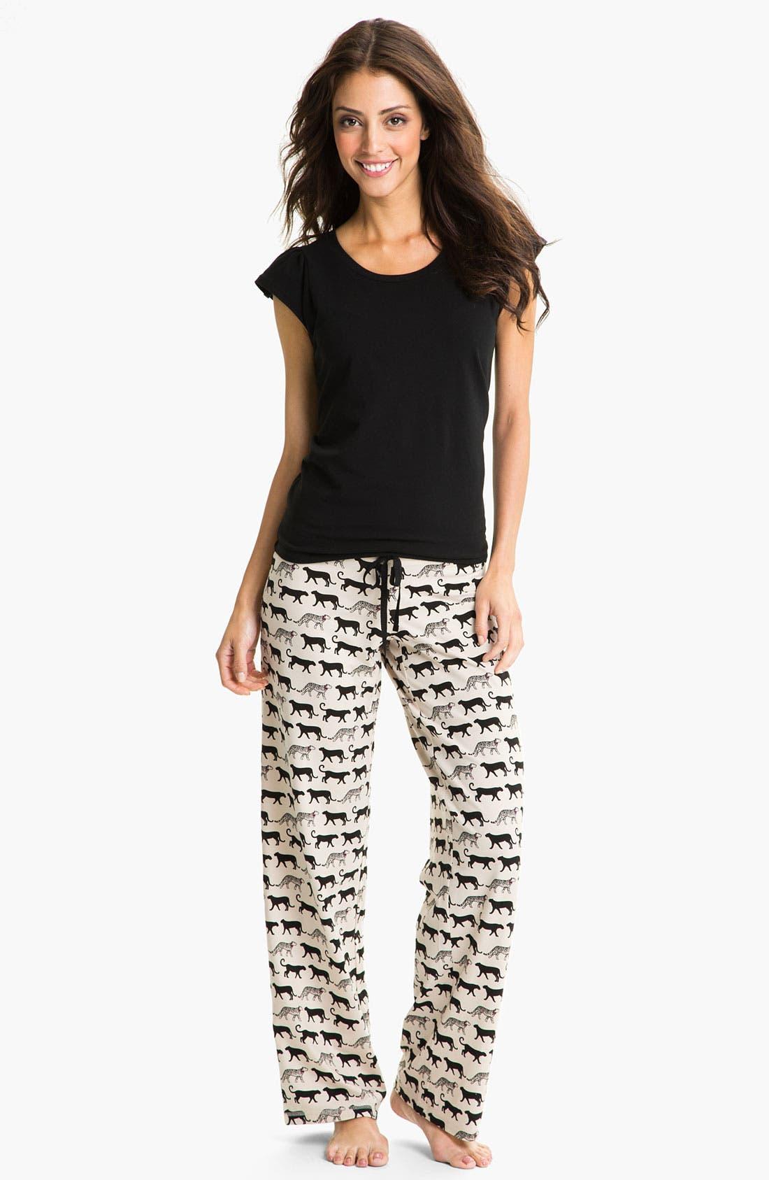 Alternate Image 4  - In Bloom by Jonquil 'Cheetah Tease' Pajama Pants