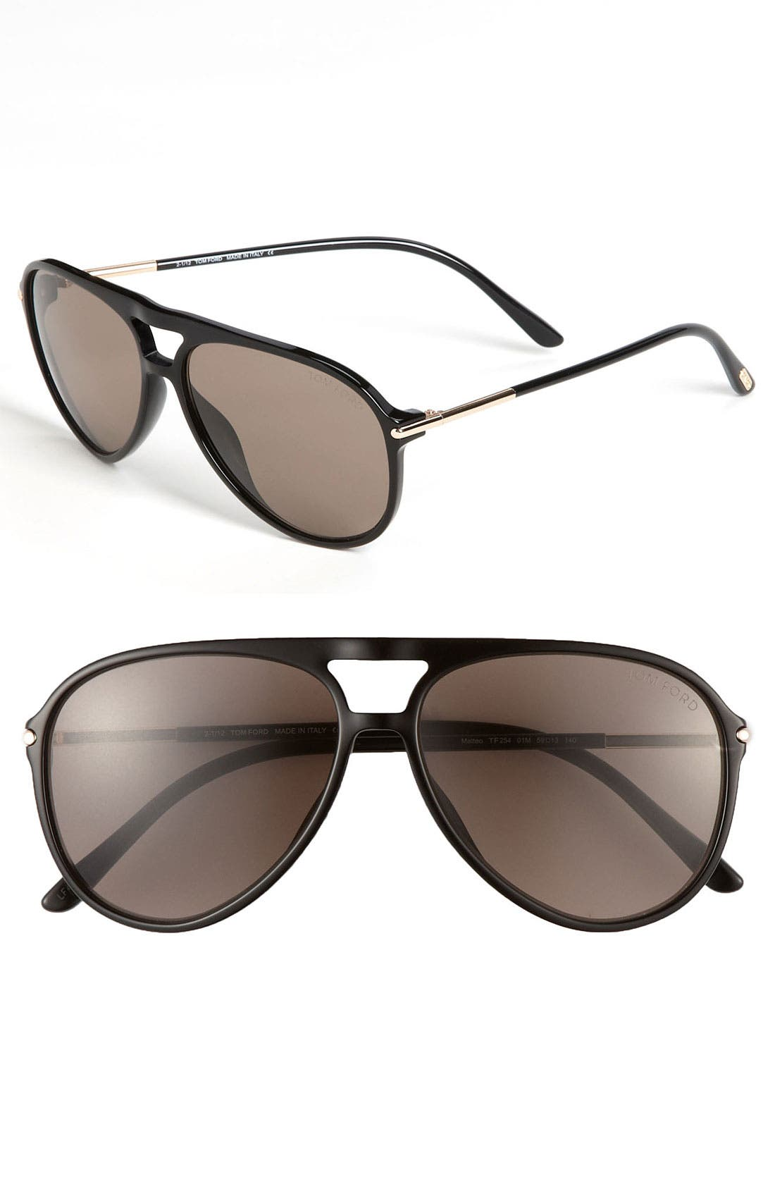 Main Image - Tom Ford 59mm Aviator Sunglasses
