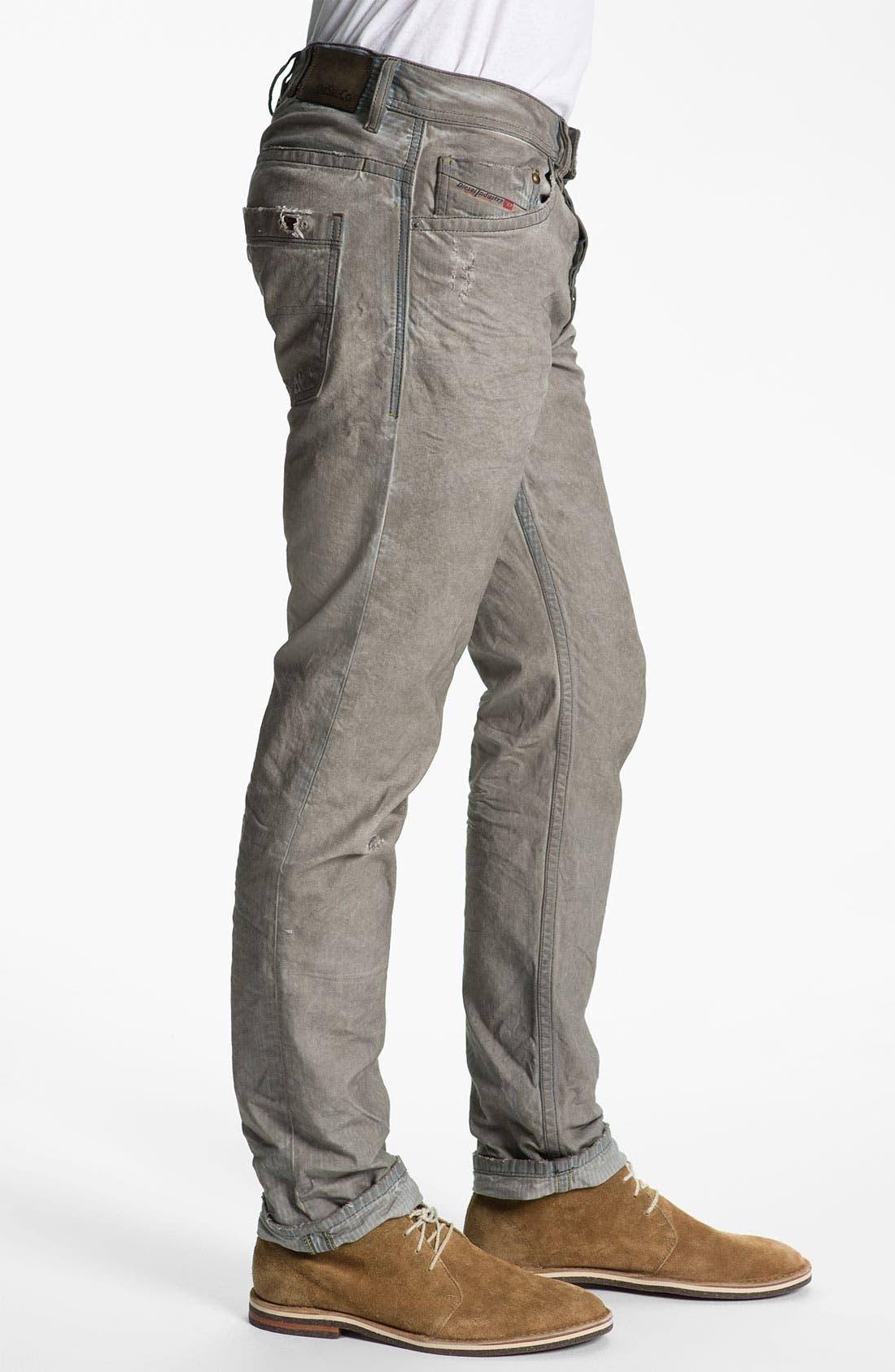 Alternate Image 3  - DIESEL® 'Braddom' Slim Tapered Leg Jeans (Chocolate Grey)