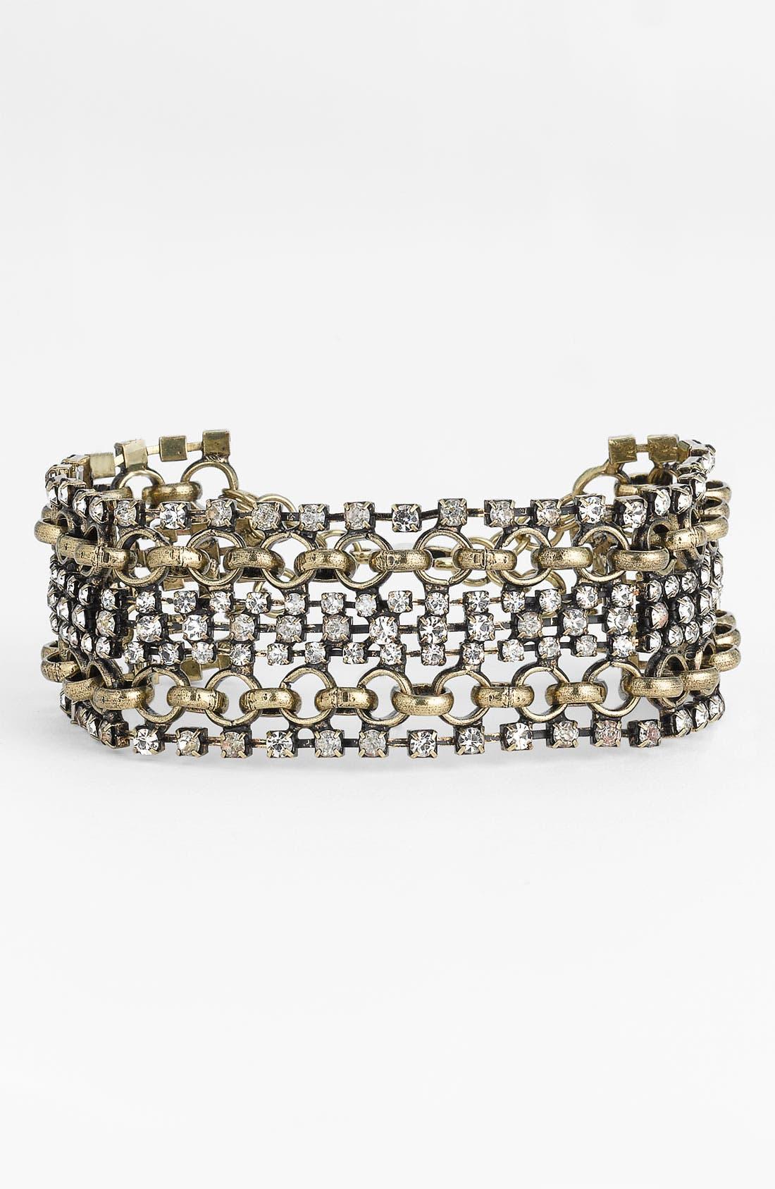 Alternate Image 1 Selected - Stephan & Co. Vintage Rhinestone Bracelet