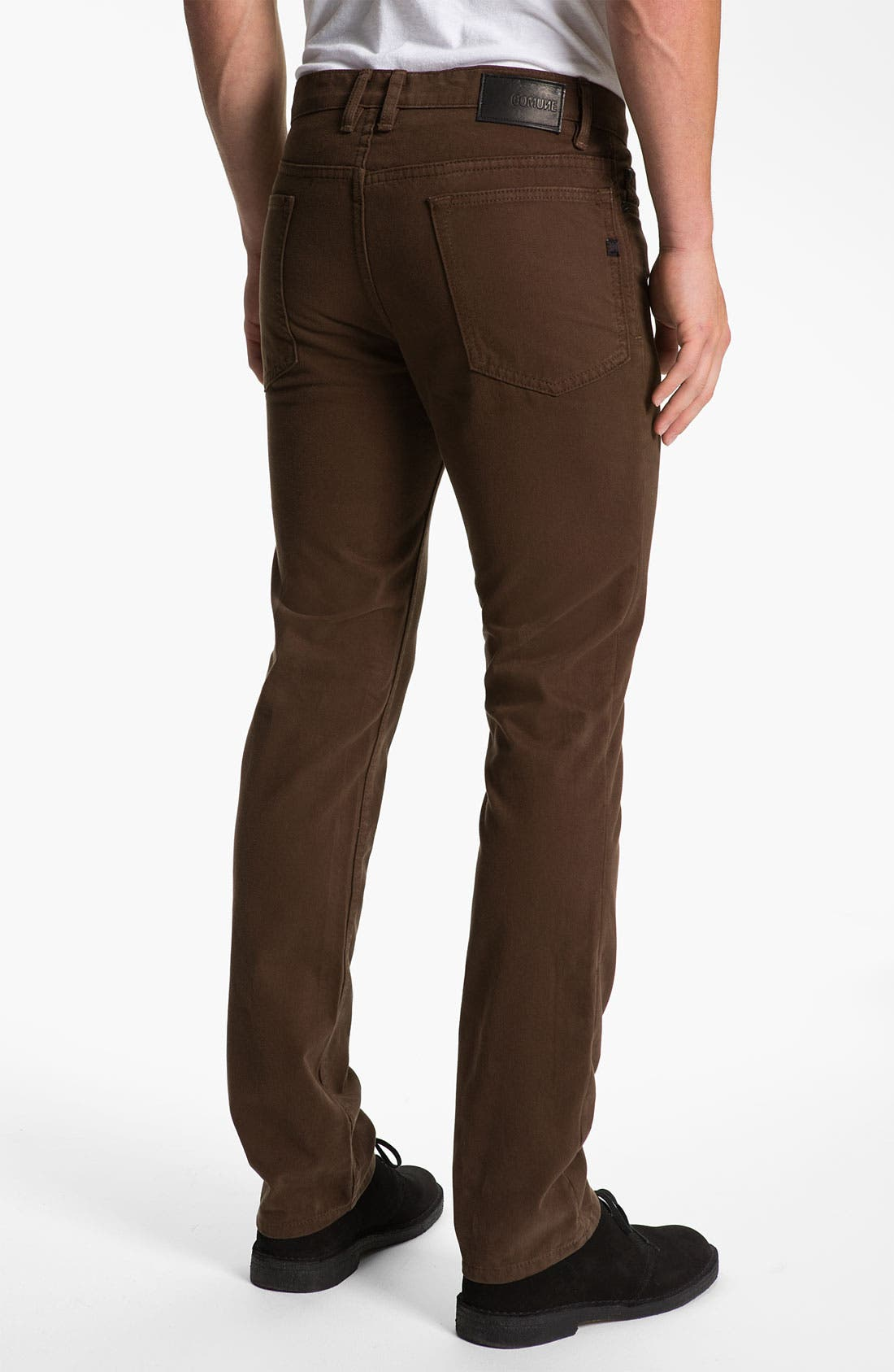 Main Image - Comune 'Ricky' Slim Straight Leg Jeans (Espresso)