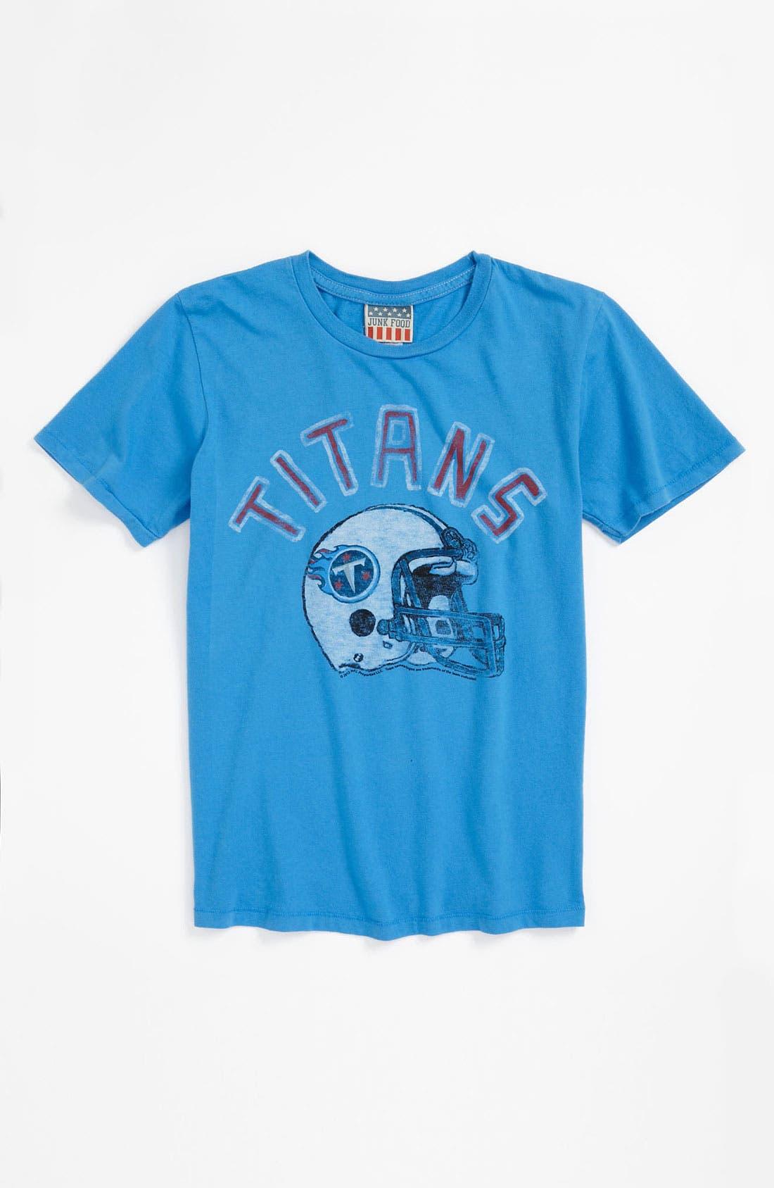 Alternate Image 1 Selected - Junk Food 'Tennessee Titans' T-Shirt (Little Boys & Big Boys)