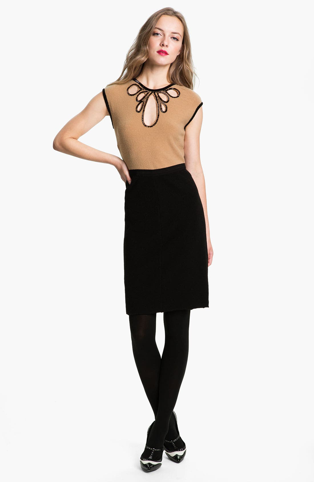 Alternate Image 1 Selected - Tory Burch 'Jameson' Wool Sheath Dress